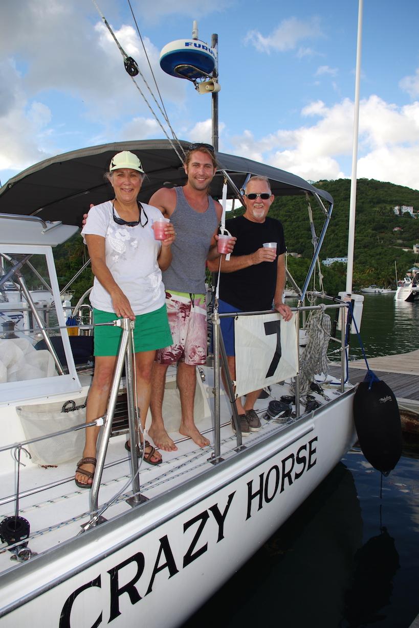 Rosemary, Matt & Bill of Crazy Horse, all circumnavigators
