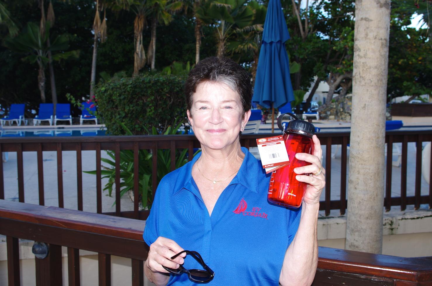 2014_C1500_Nanny Cay_Prizegiving_Best Bruise winner_Cricket on Corsair.JPG
