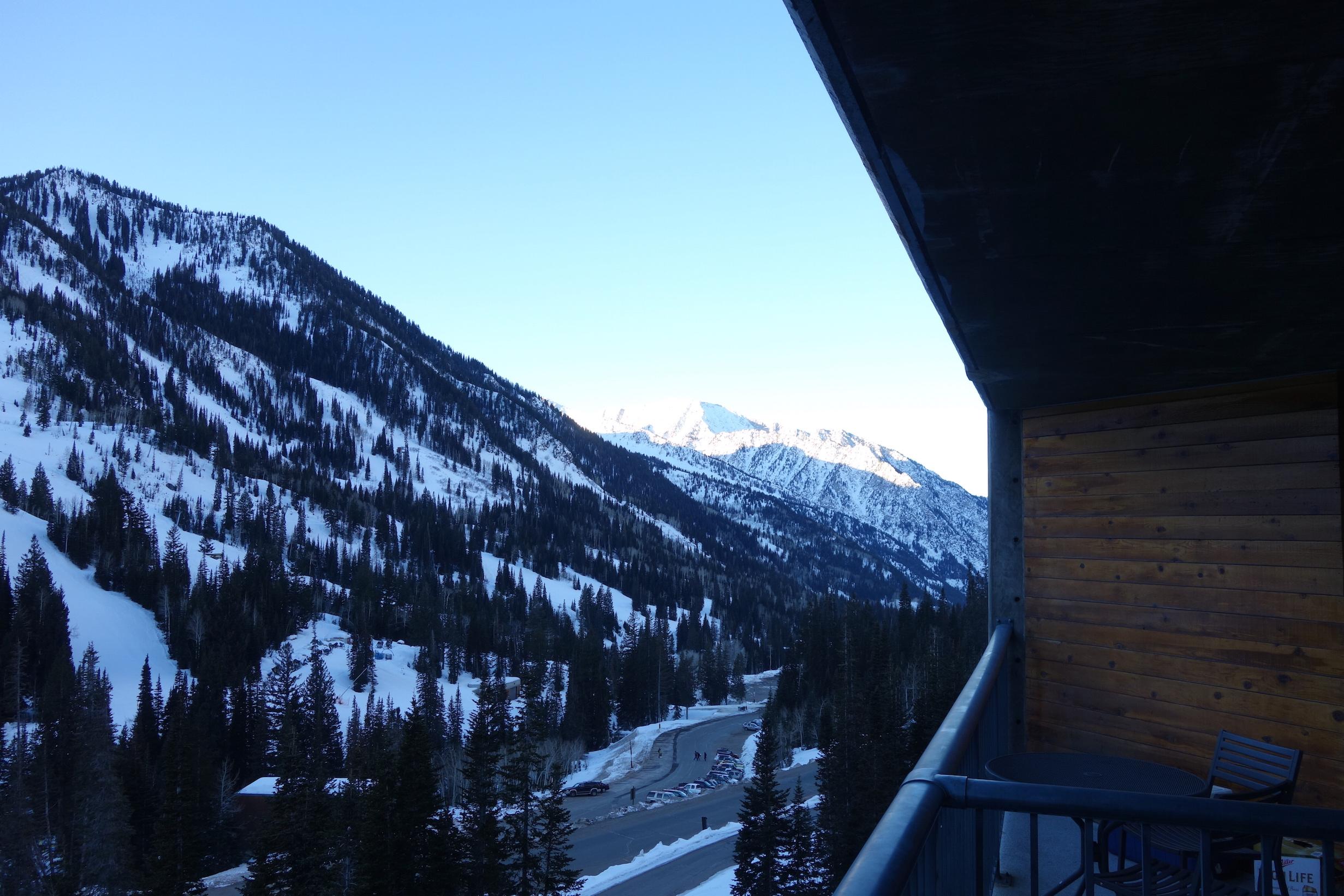 Tidig morgon, utsikt från vår lägenhet vi hyr
