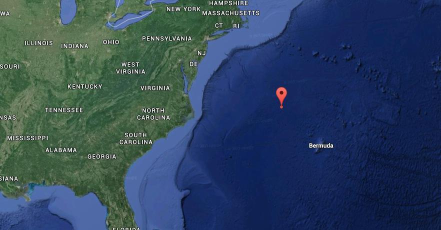 2015.06.13, Blue Heron sailing from Bermuda. 35° 28'N, 067° 50 W
