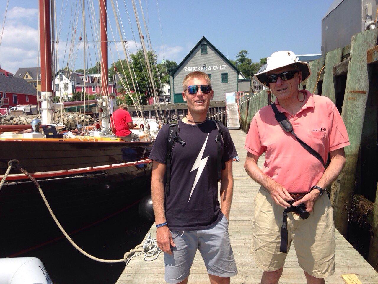 Andy & John Harries in Lunenburg.
