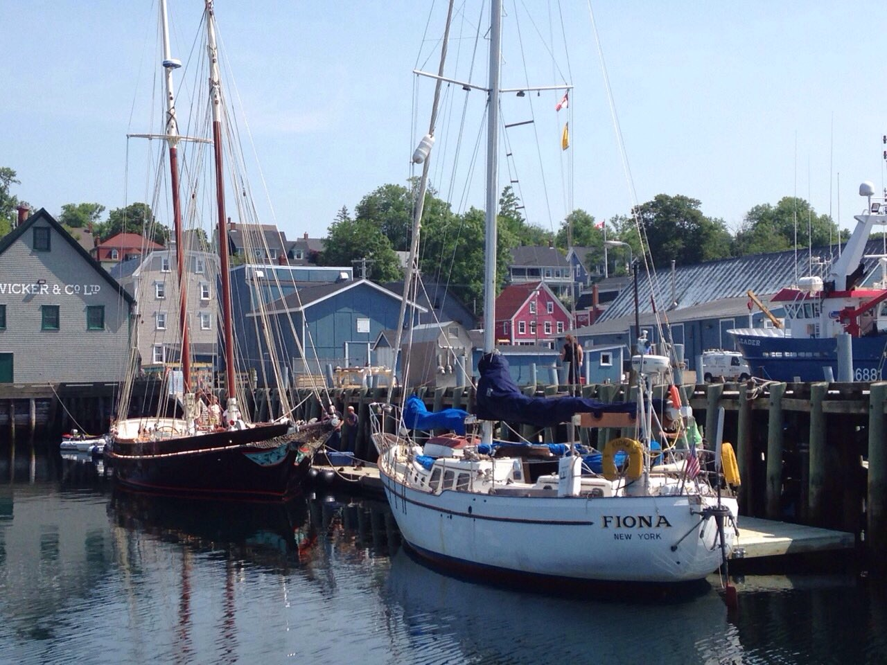 Eric Forsyth's Westsail 42 'Fiona' - he built it from a bare hull.