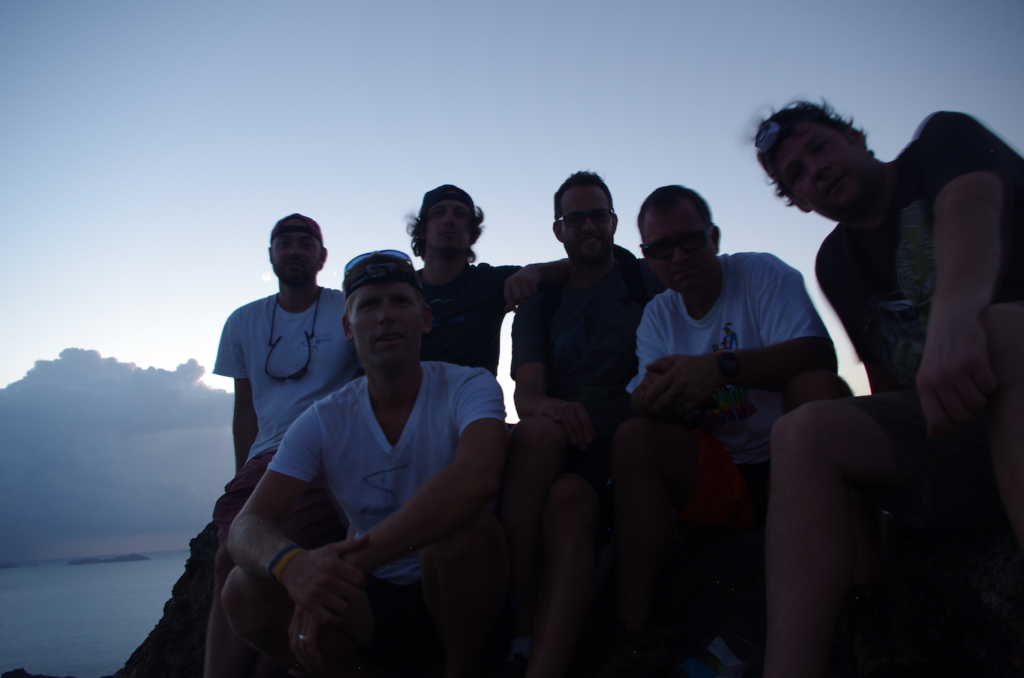 Atop Ile Fourche before sunrise.