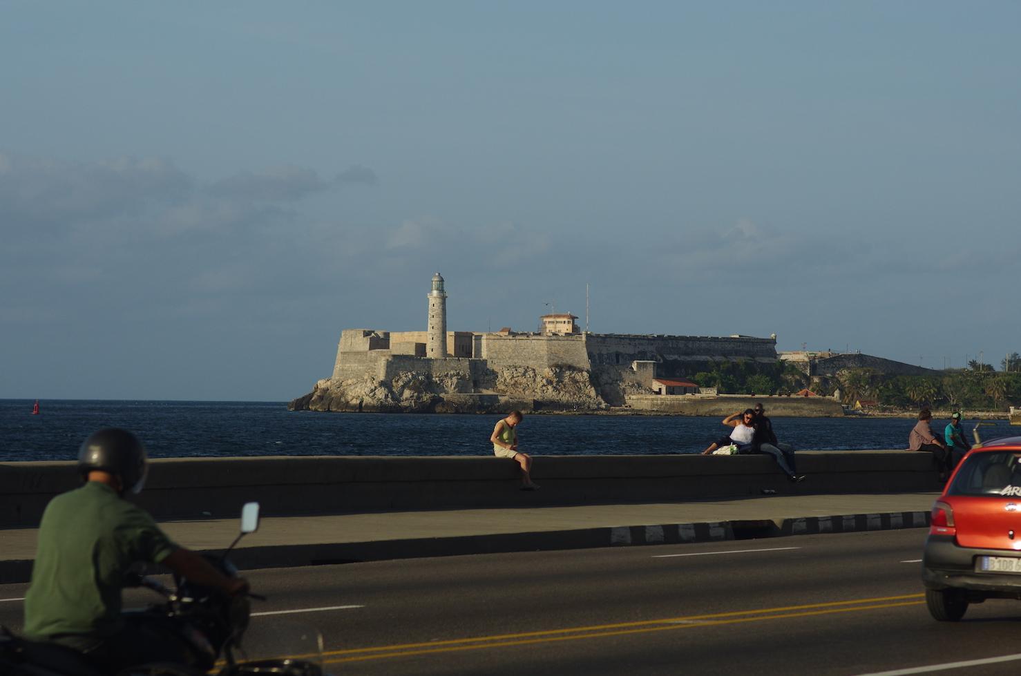 'El Morro' guards the entrance to Havana harbor.