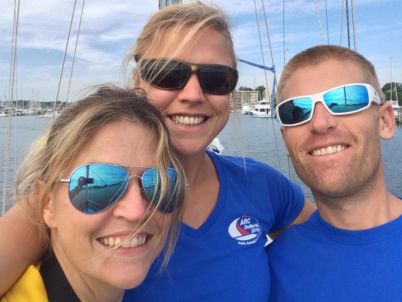 Isa, Mia & Andy, ARC DelMarVa Rally Control.