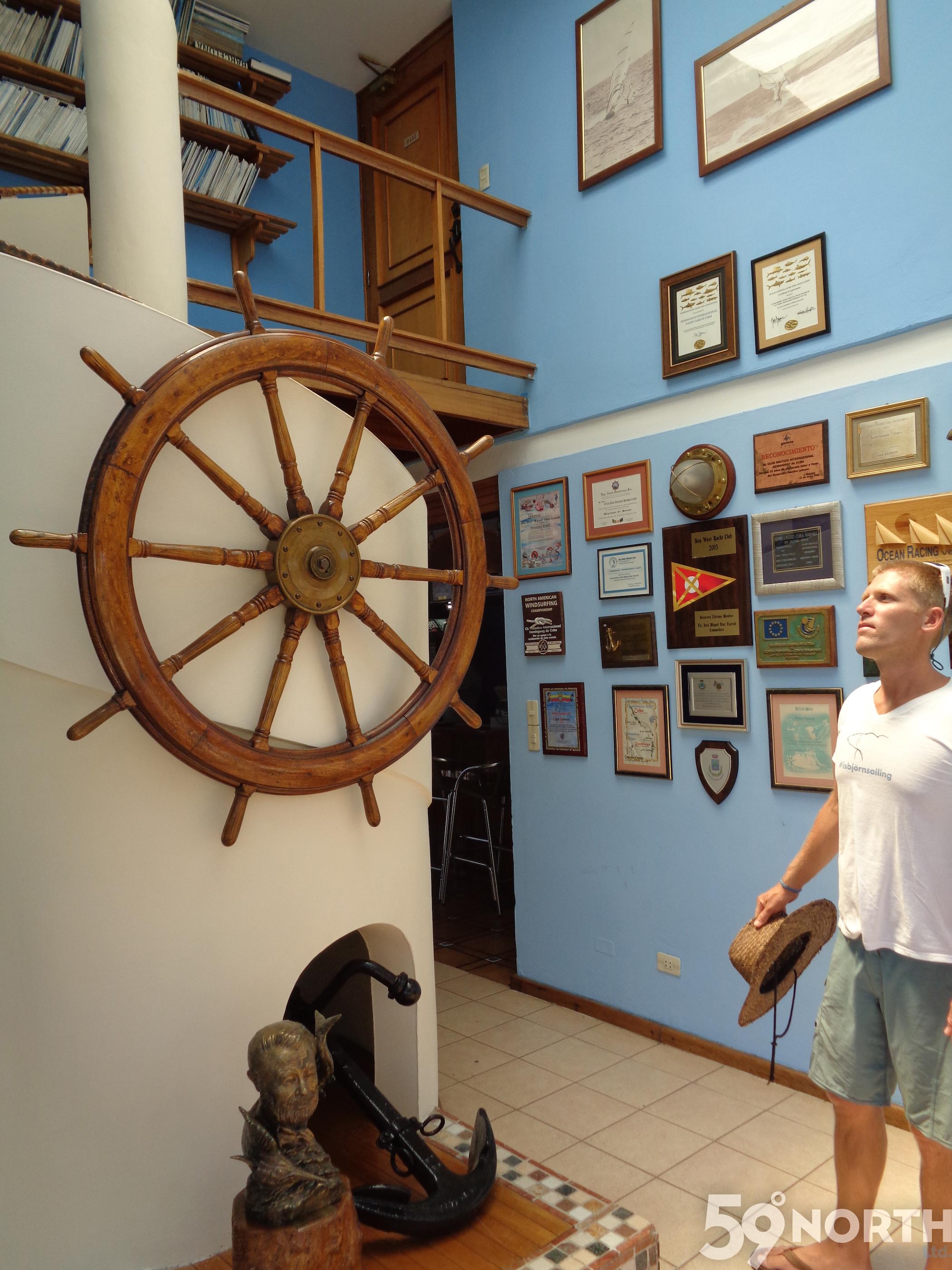 Inside Club Nautico de Hemingway