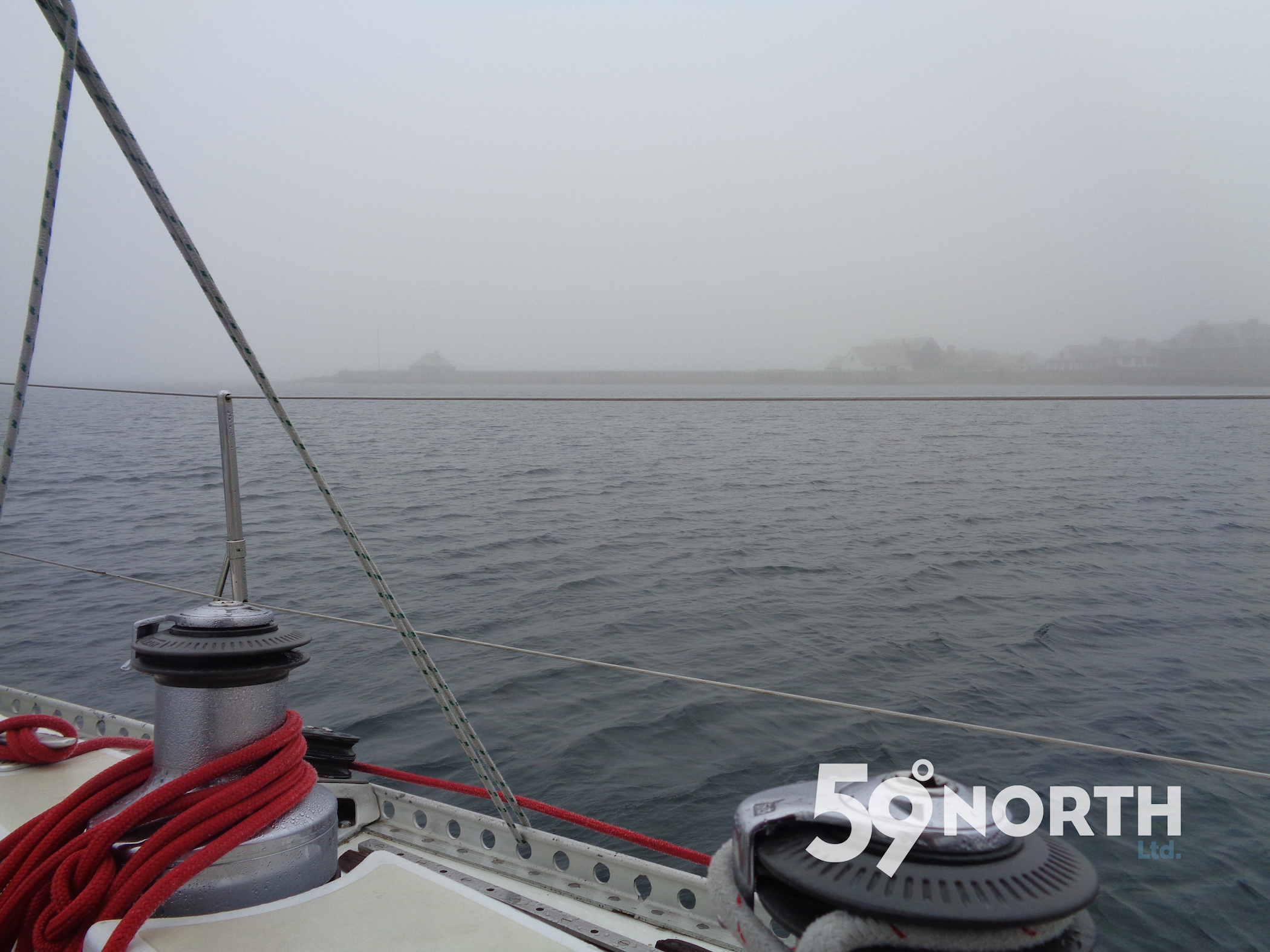 Fog during our day in Lewisburg, we never left the boat! :)