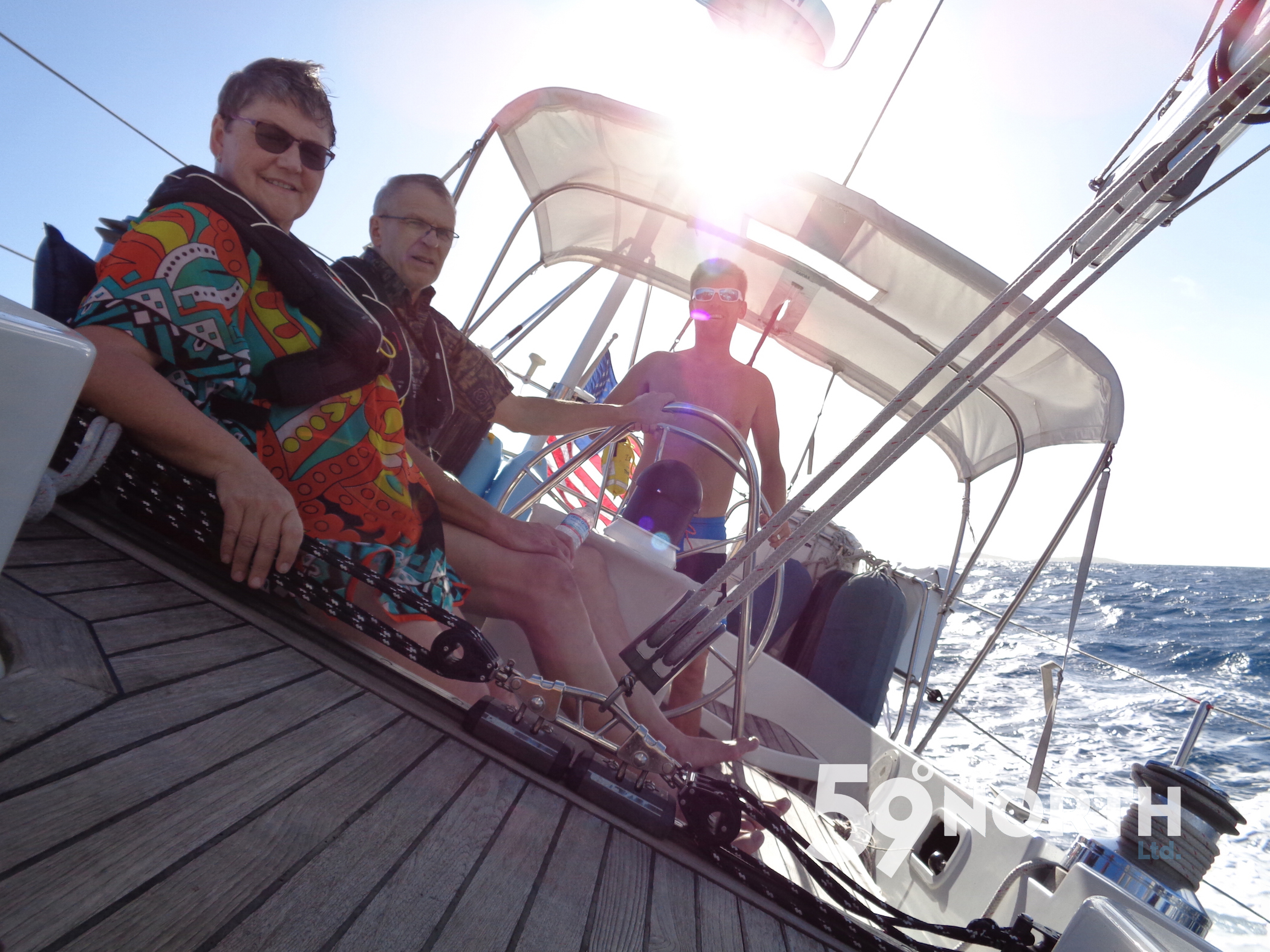 We started the New Year sailing in the Virgin Islands with Mia's parents. Jan 2016