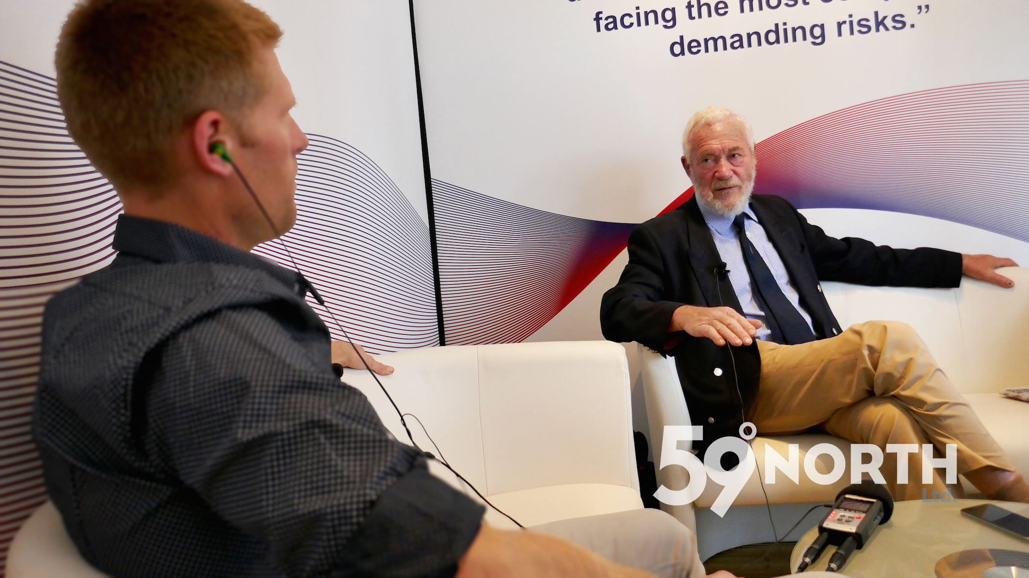 A podcast highlight! Met up with Robin Knox-Johnson in Southampton. Sept. 2016