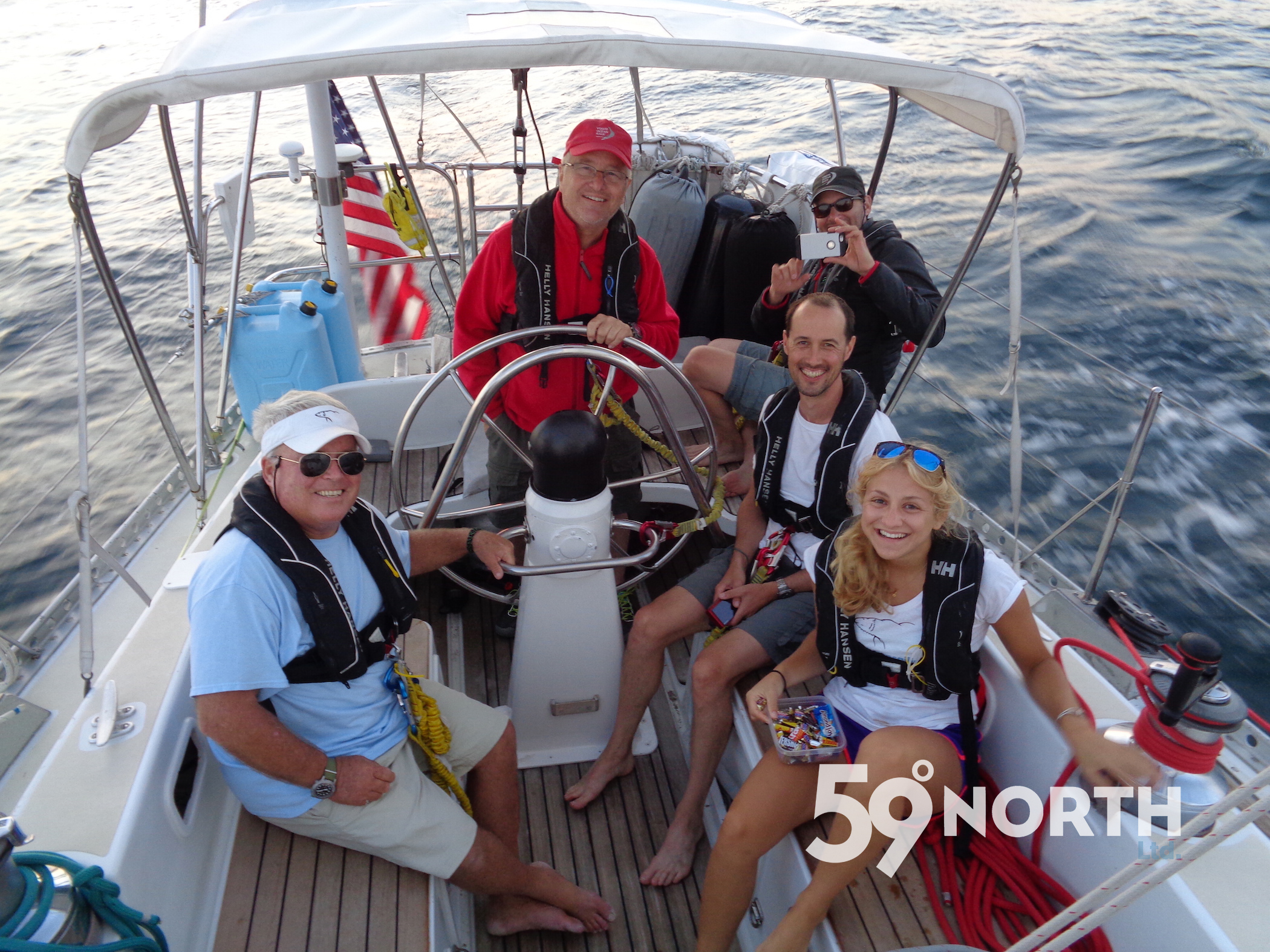Andy's dad Dennis took over as captain from Newport to Lunenburg while Andy recovered from apendecitis surgery. July 2016