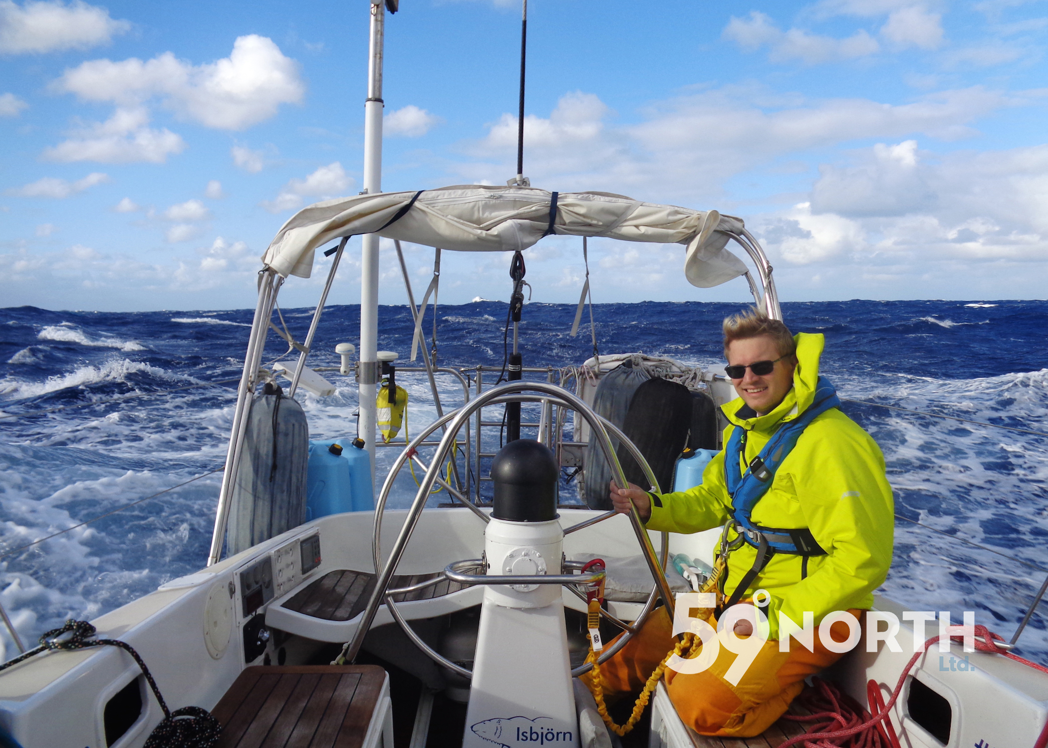Sailing south from the Chesapeake to the BVI with C1500! Amazing winds the first couple of days! Crew Ed at the helm. Nov 2016