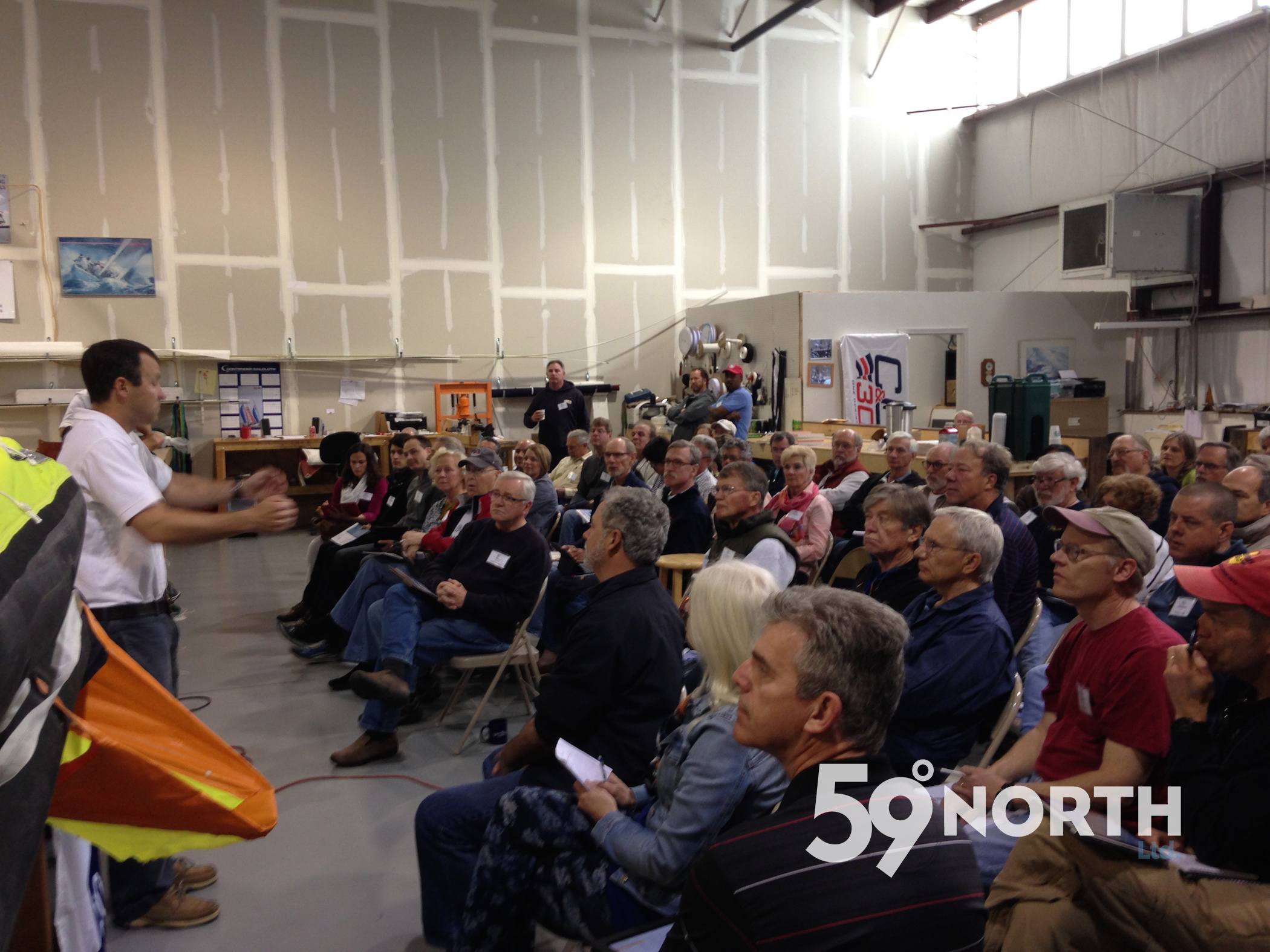 Hosting the Seminar for the ARC DelMarVa rally at Chesapeake Sailmakers loft in Annapolis, one of the World Cruising Club activities we have been involved in. April 2016