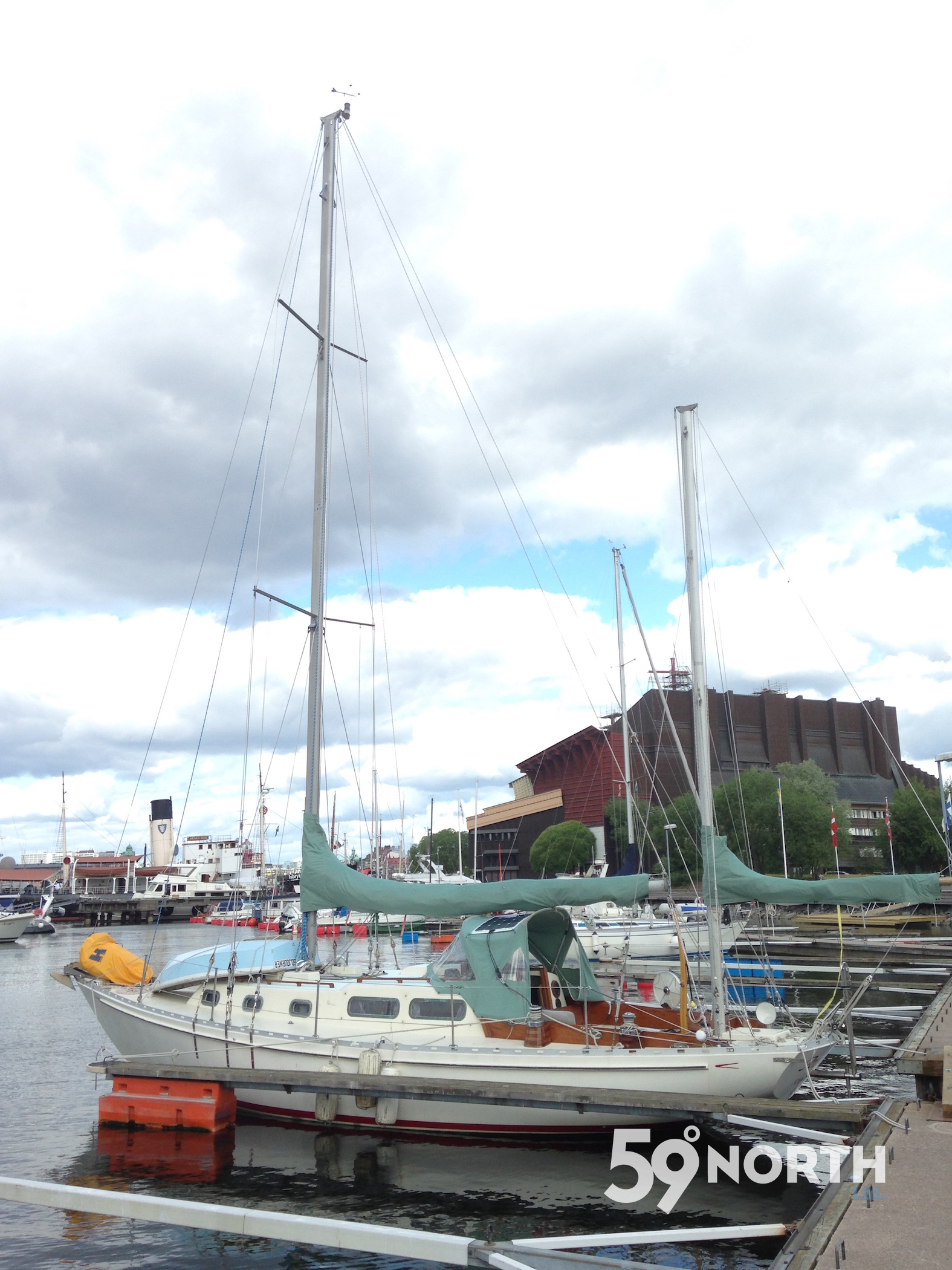 We sailed Arcturus with Neil to Stockholm and stayed overnight for the last time. June 2016