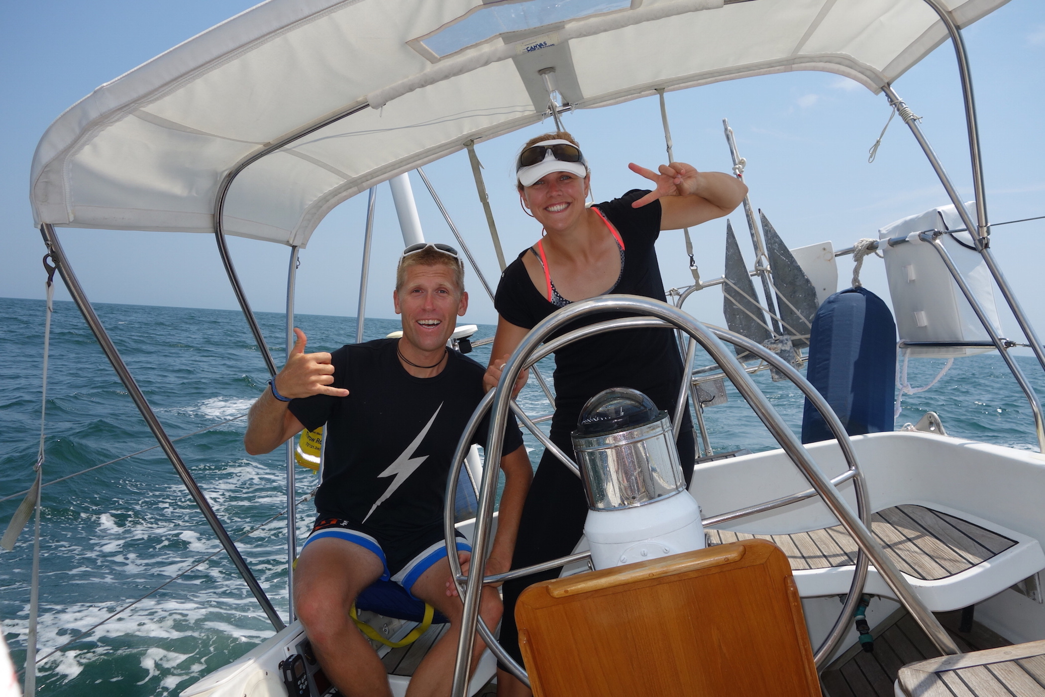 First summer on Isbjorn. Annapolis to Lunenburg and back in July 2016