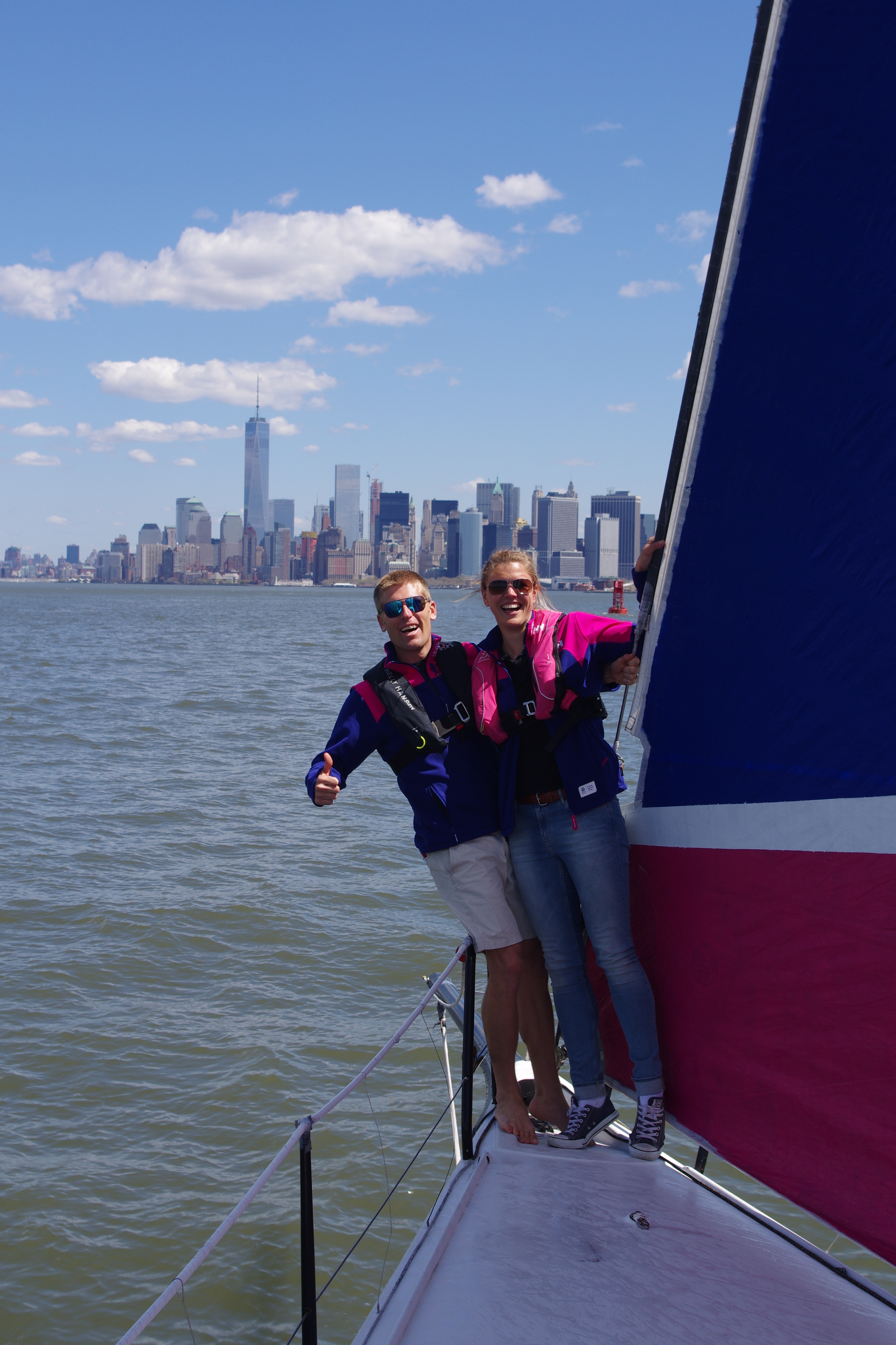 Sailing a TP 52 with the Team SCA team in New York Harbor!