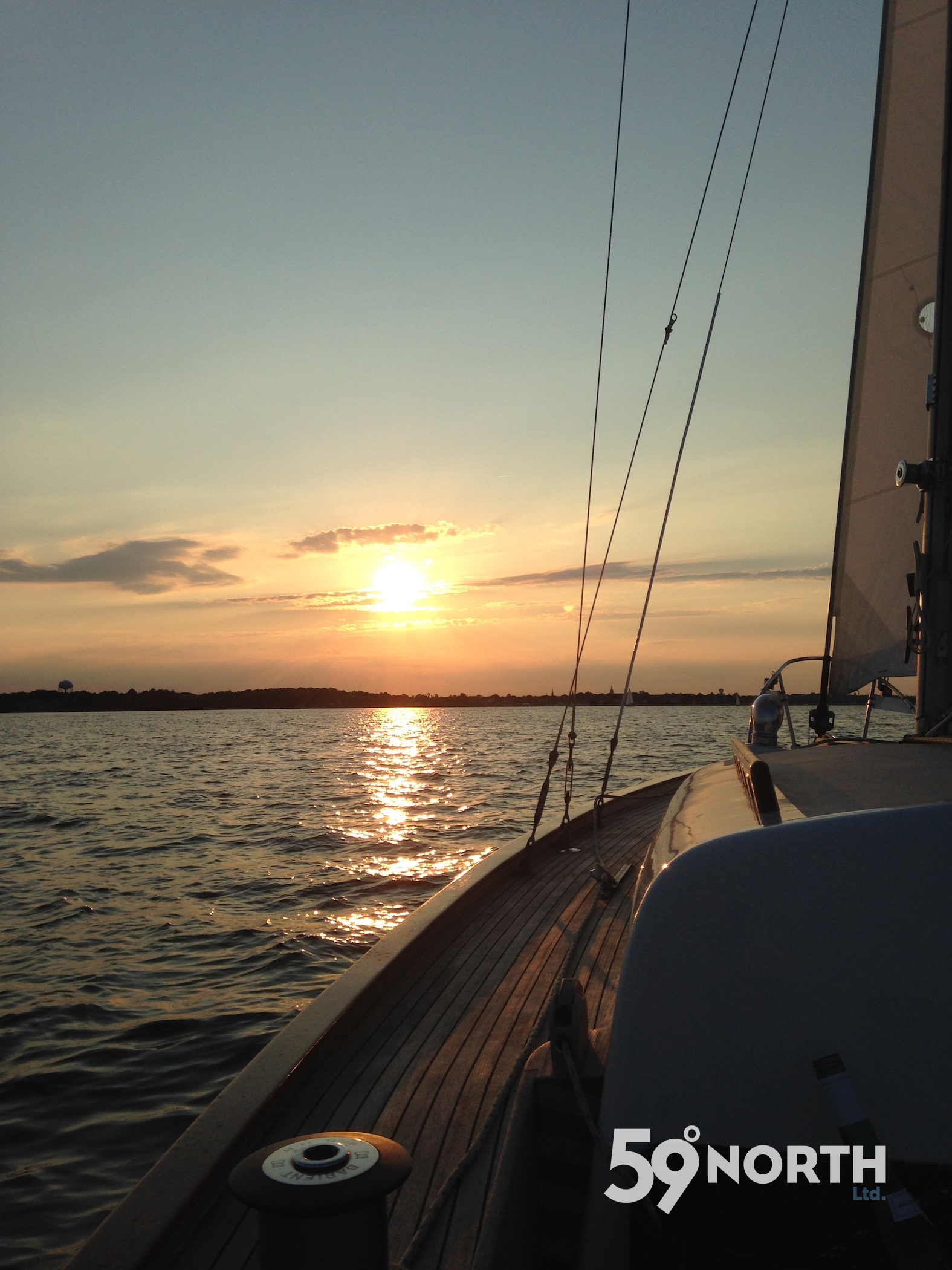Sunset sail on the Chesapeake on our friend Micah's Alberg 35' 'Entropic'. June 2016