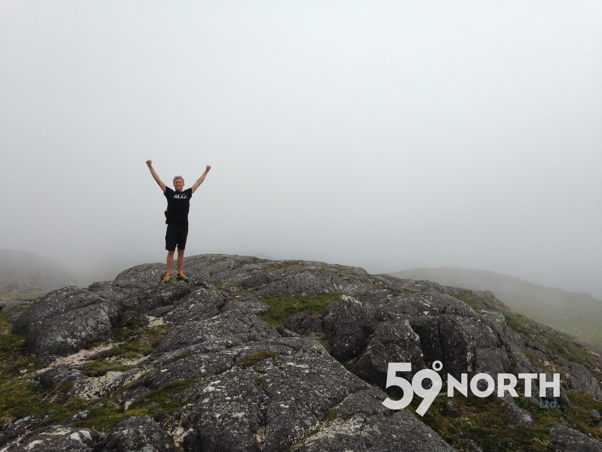 Hiking around St. Pierre, fog is more common than not! July 2016