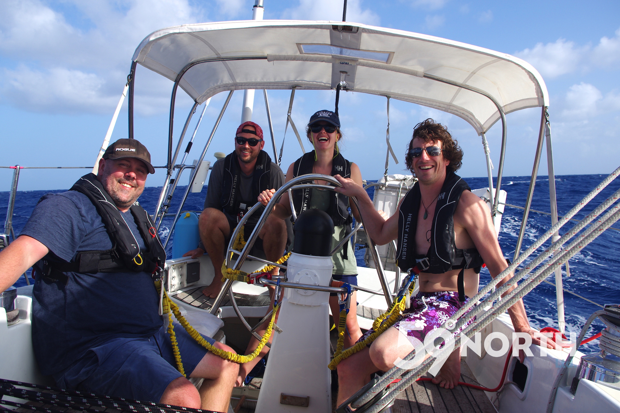 Leg 1, 2016 from the BVI. Got turned around due to a broken furler. Jan 2016