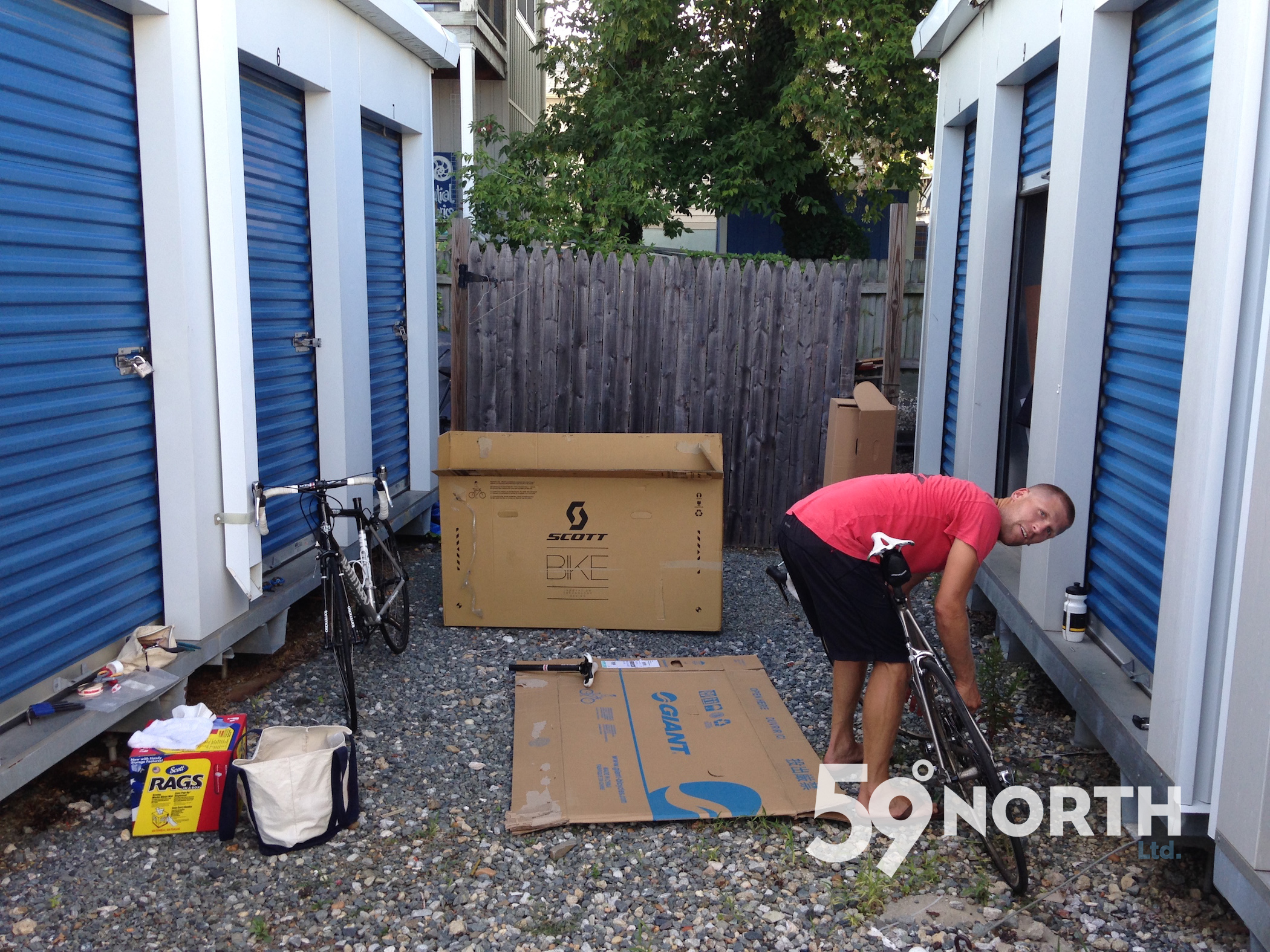 In the process of moving our stuff to Sweden. Here packing up our road bikes to fly back with us. July 2016