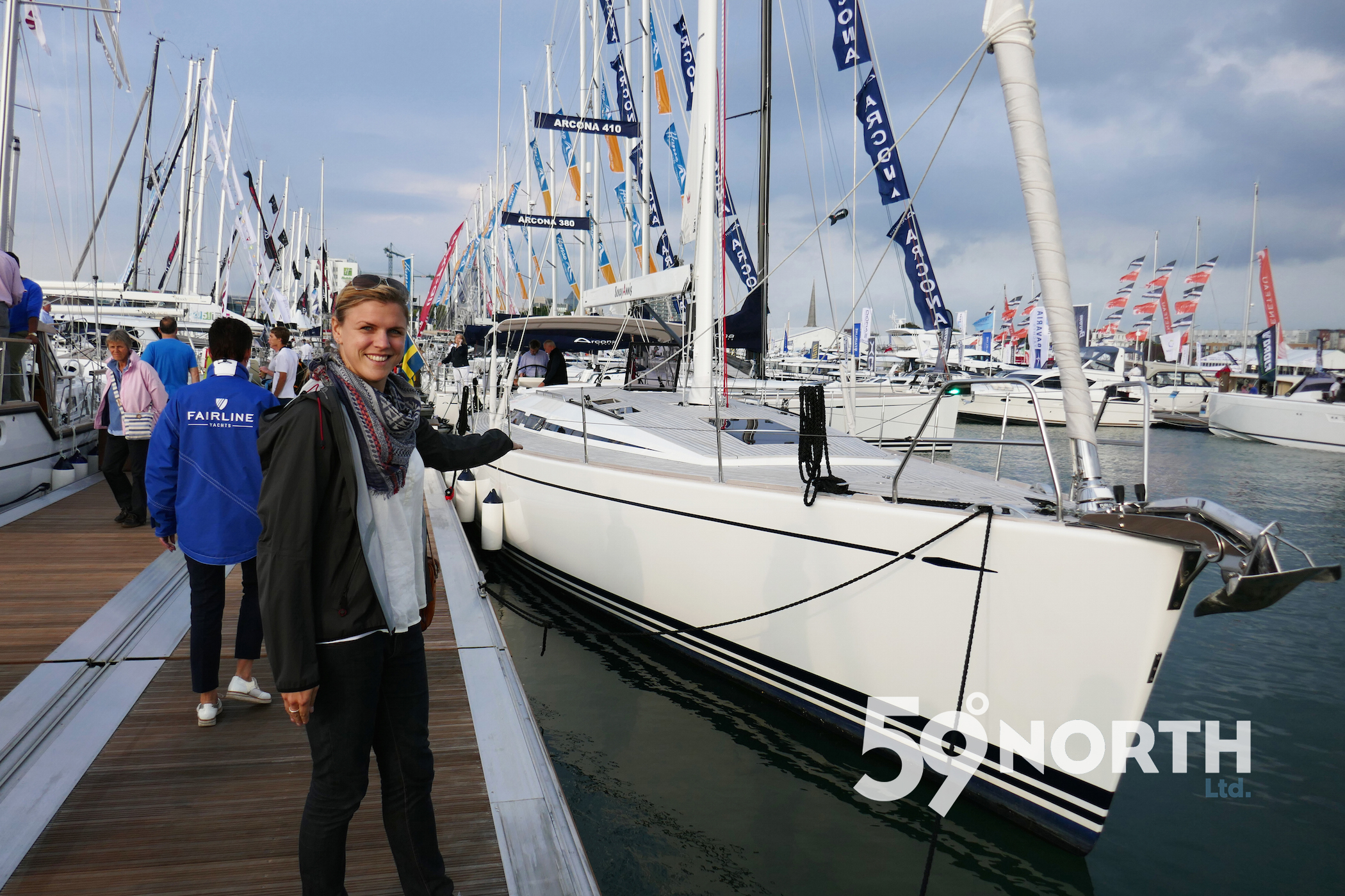 Checking out the new Swan 54 at the Southampton Boat Show. Sept. 2016