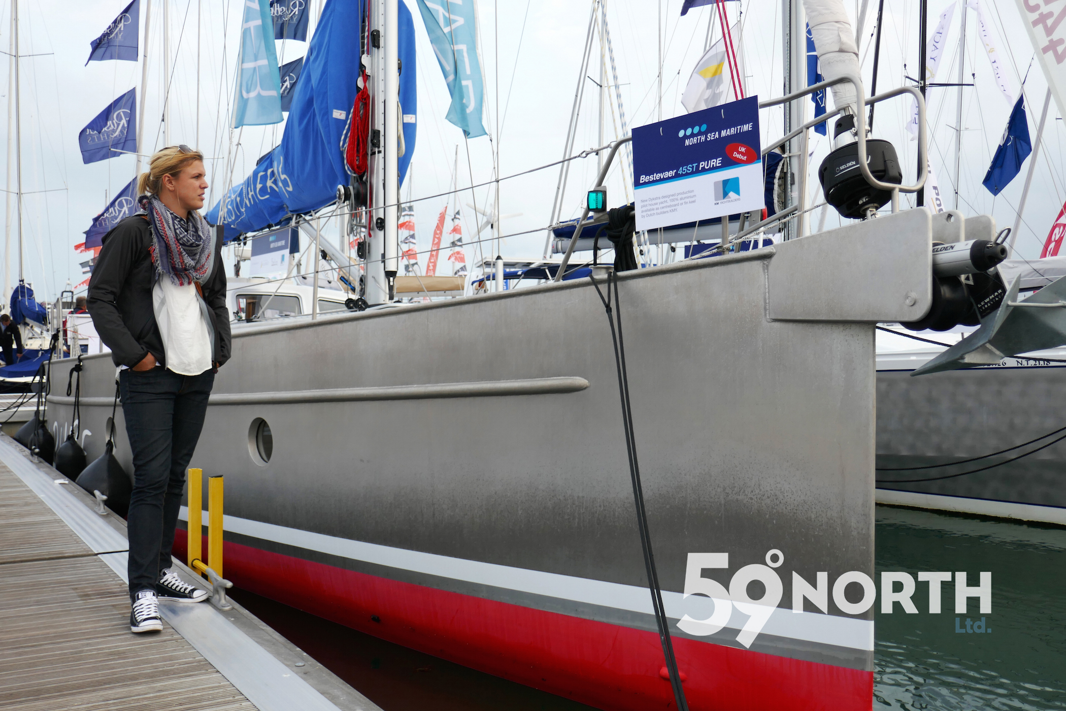 Checking out some cool boats at the Southampton Boat Show, here a Bestevaer Sept . 2016