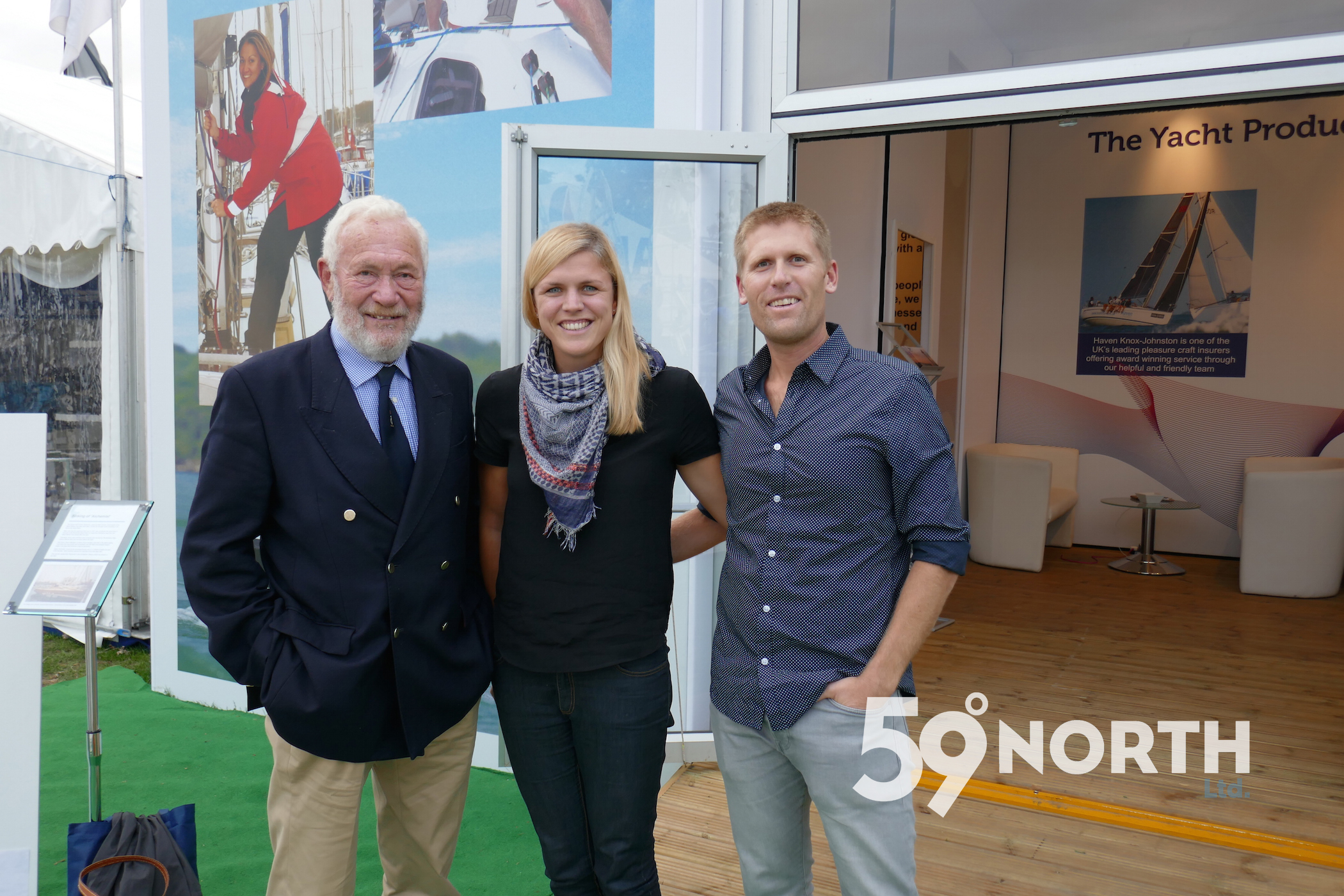 Another highlight of 2016, met up with Sir Robin Knox-Johnson at the Southampton Boat Show for an 'On the wind' chat. Sept. 2016