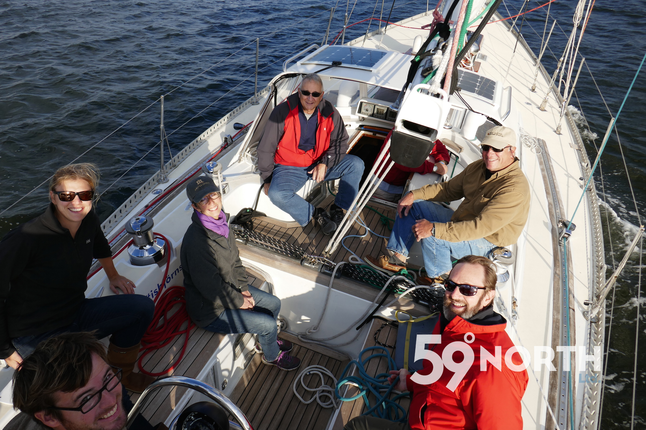 Shakedown sail in Annapolis with friends, checking out the new genoa and jib from Chesapeake Sailmakers! Amazingly, all sail fit on first try! Oct. 2016