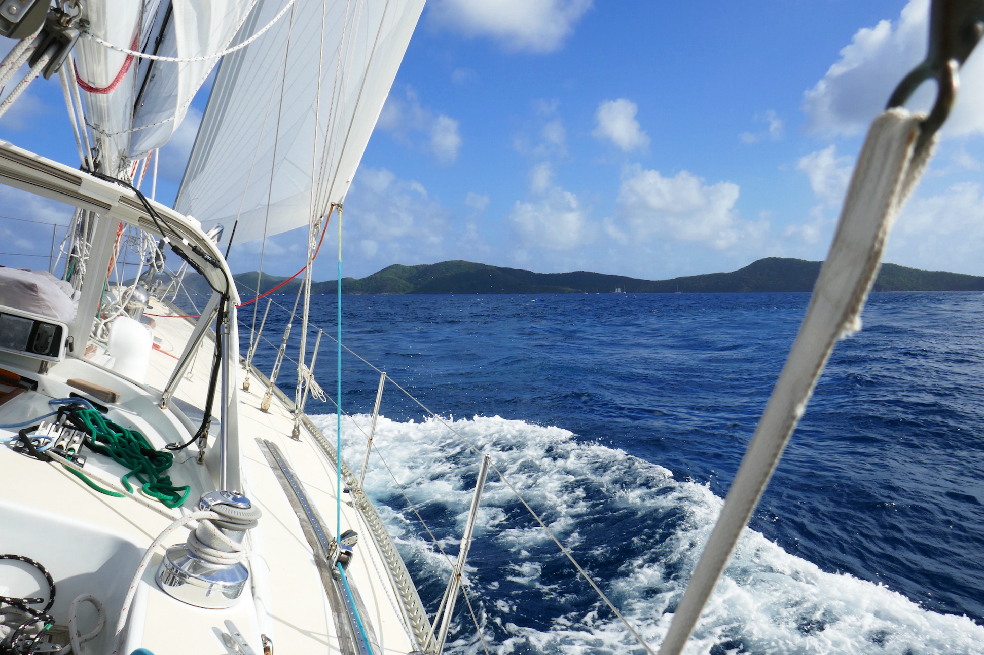 Nanny Cay to Trellis Bay, BVI on  Isbjorn