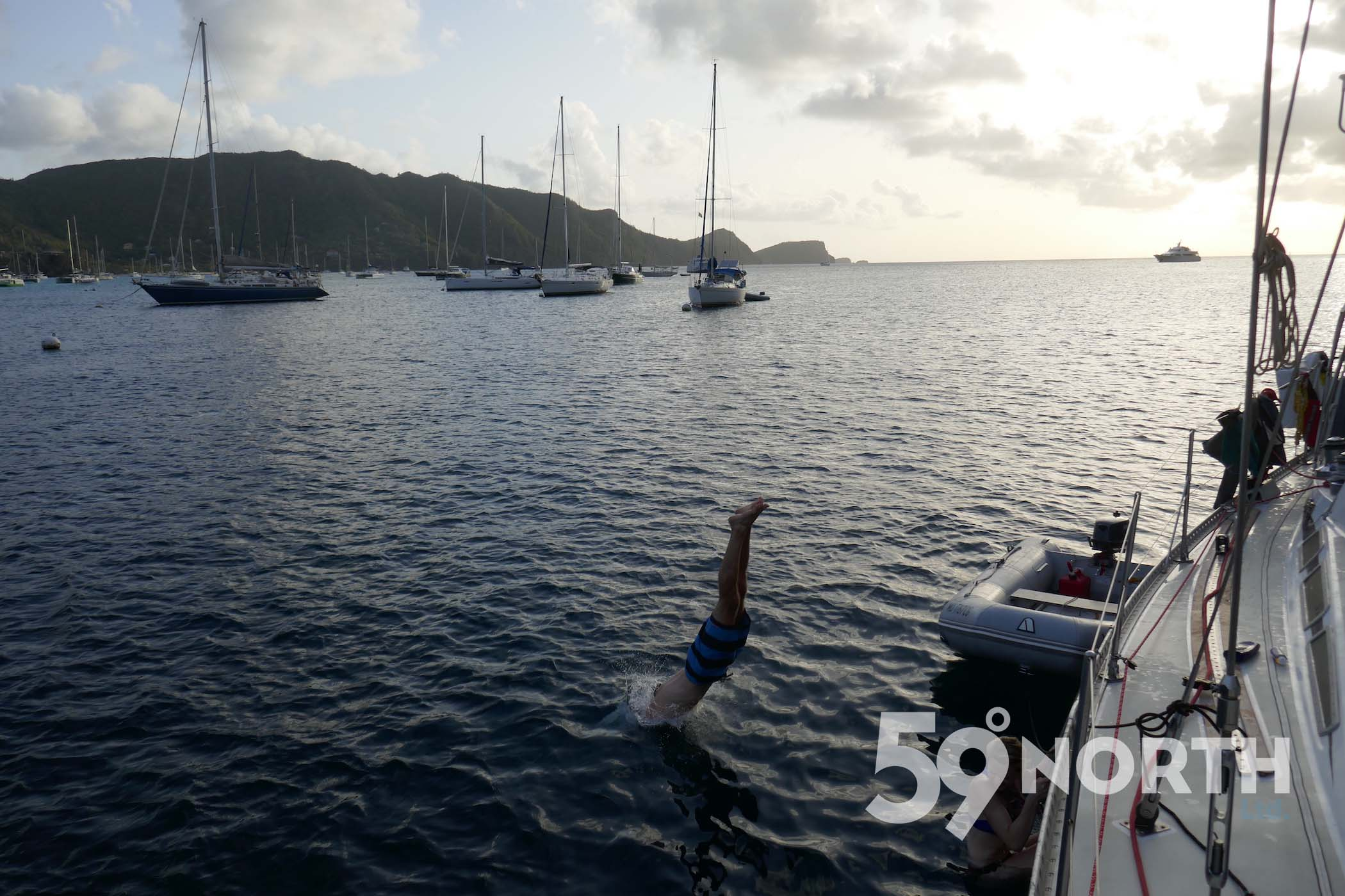 A well deserved swim in Bequia after the sail down from the BVI!