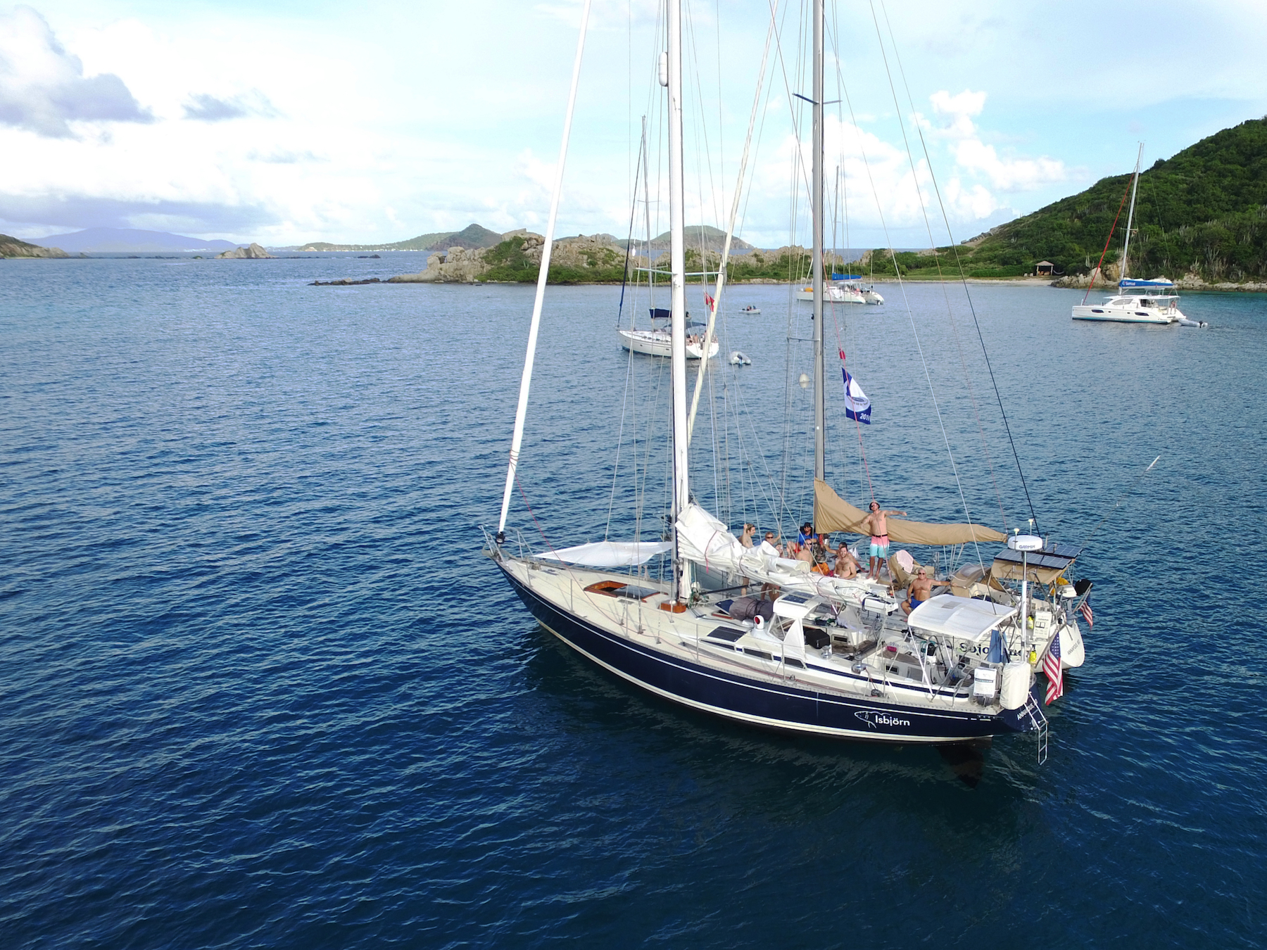 Raft up with Sojourner in the BVI, November 2016