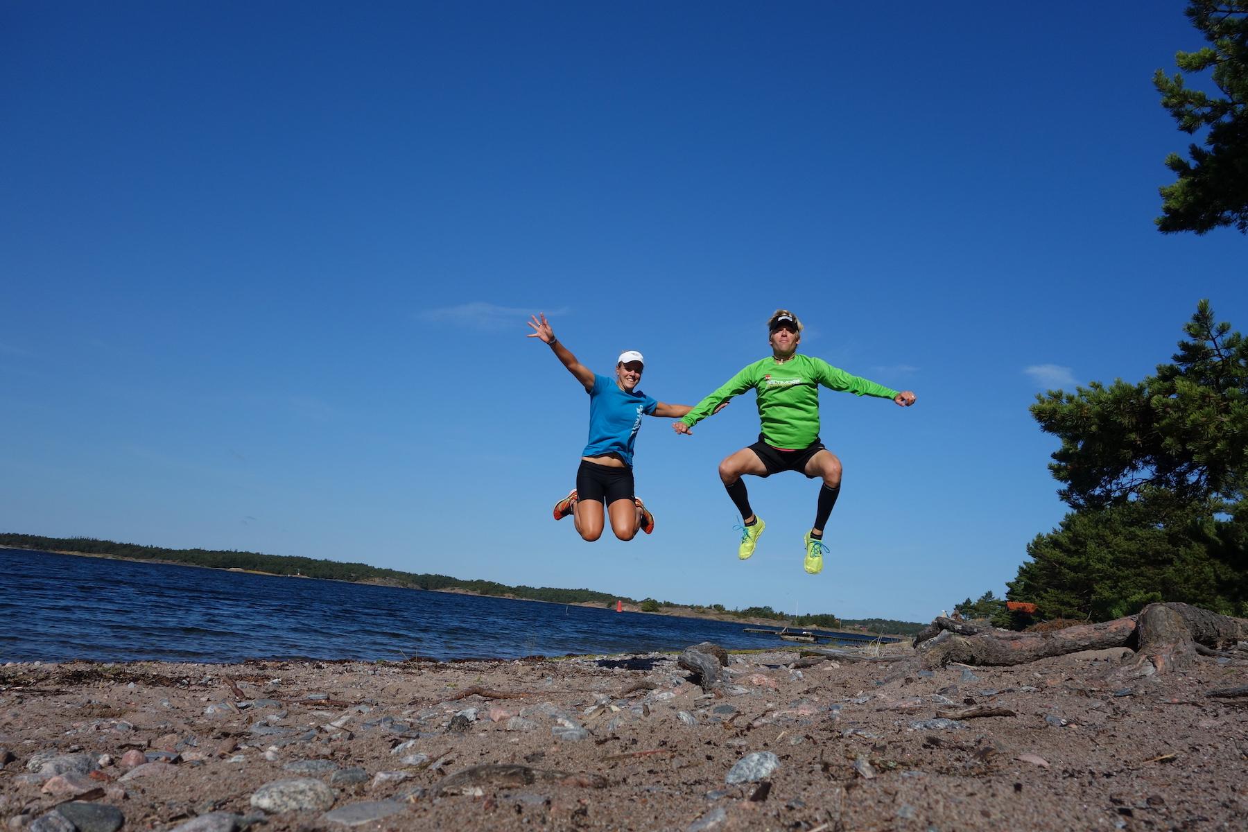 Marathon training around the Swedish islands