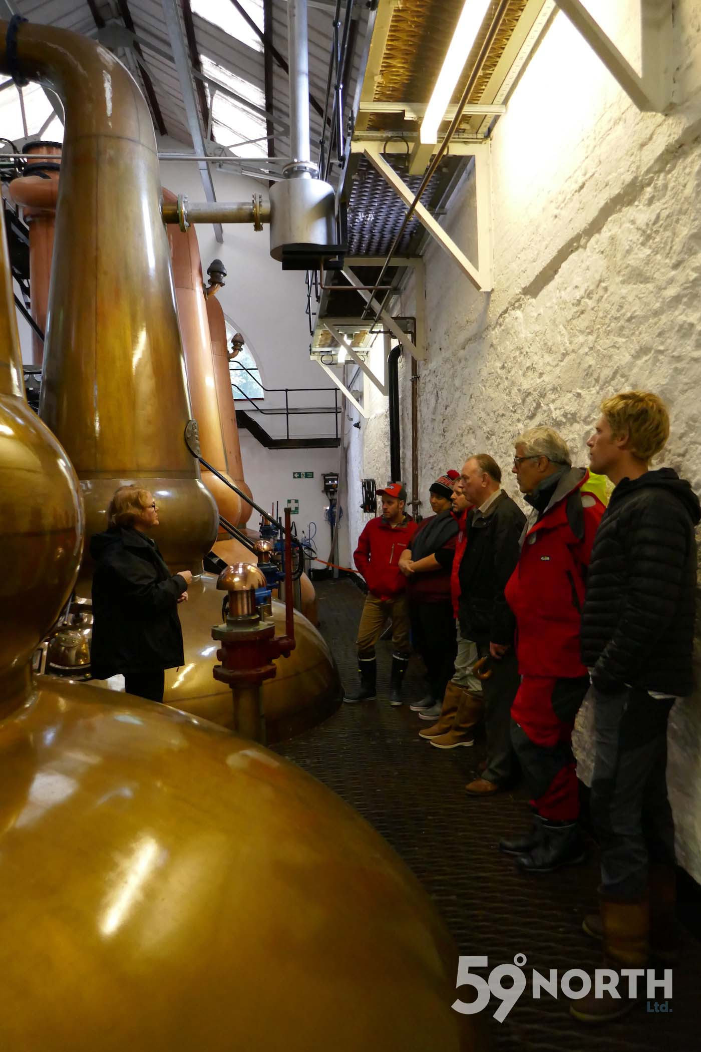 Tour at the Tobermory distillery. Leg 8, 2017: Sweden to Scotland 59-north.com