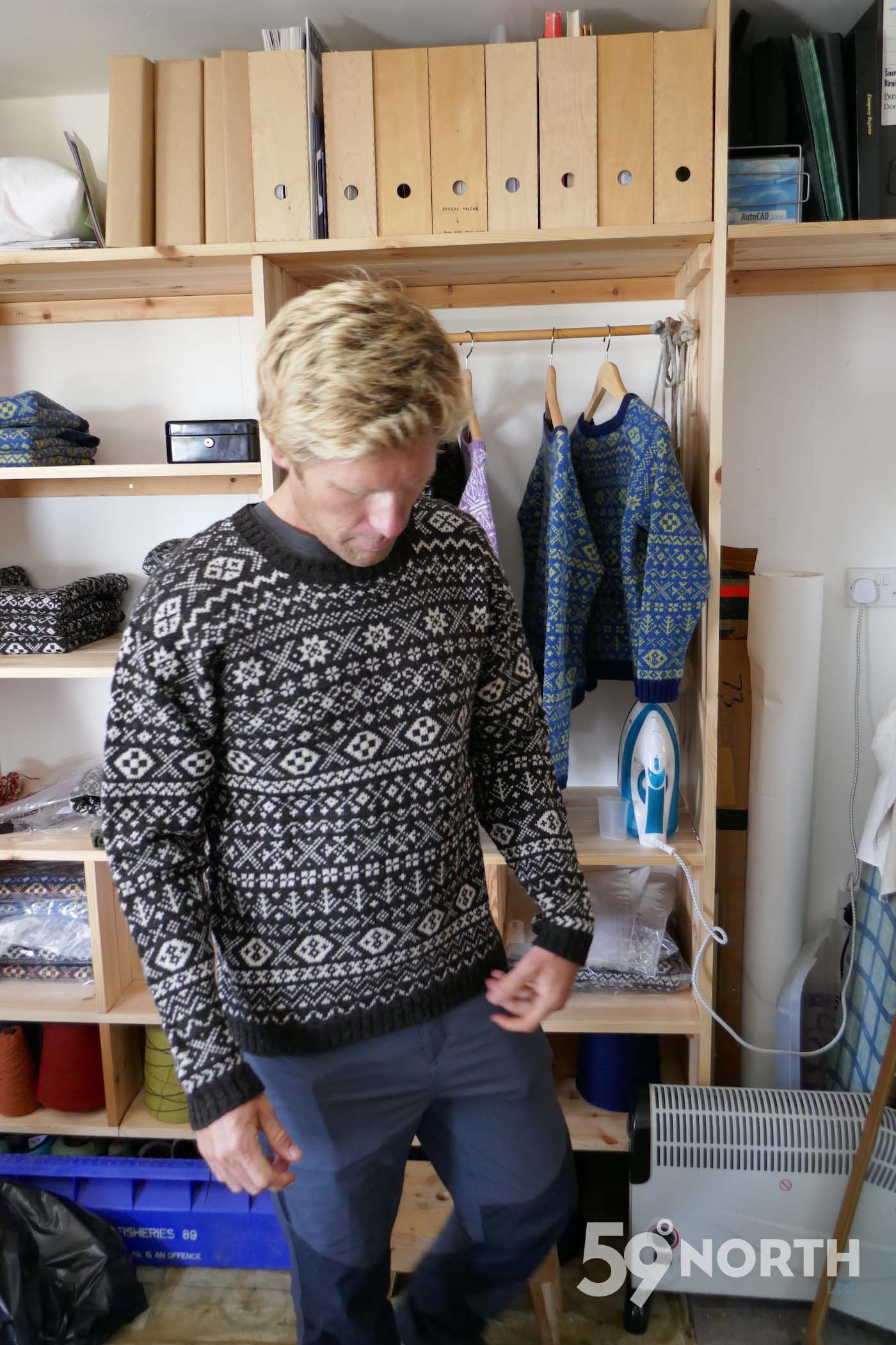 Fair Isle knitted sweater!!  Leg 8, 2017: Sweden to Scotland 59-north.com