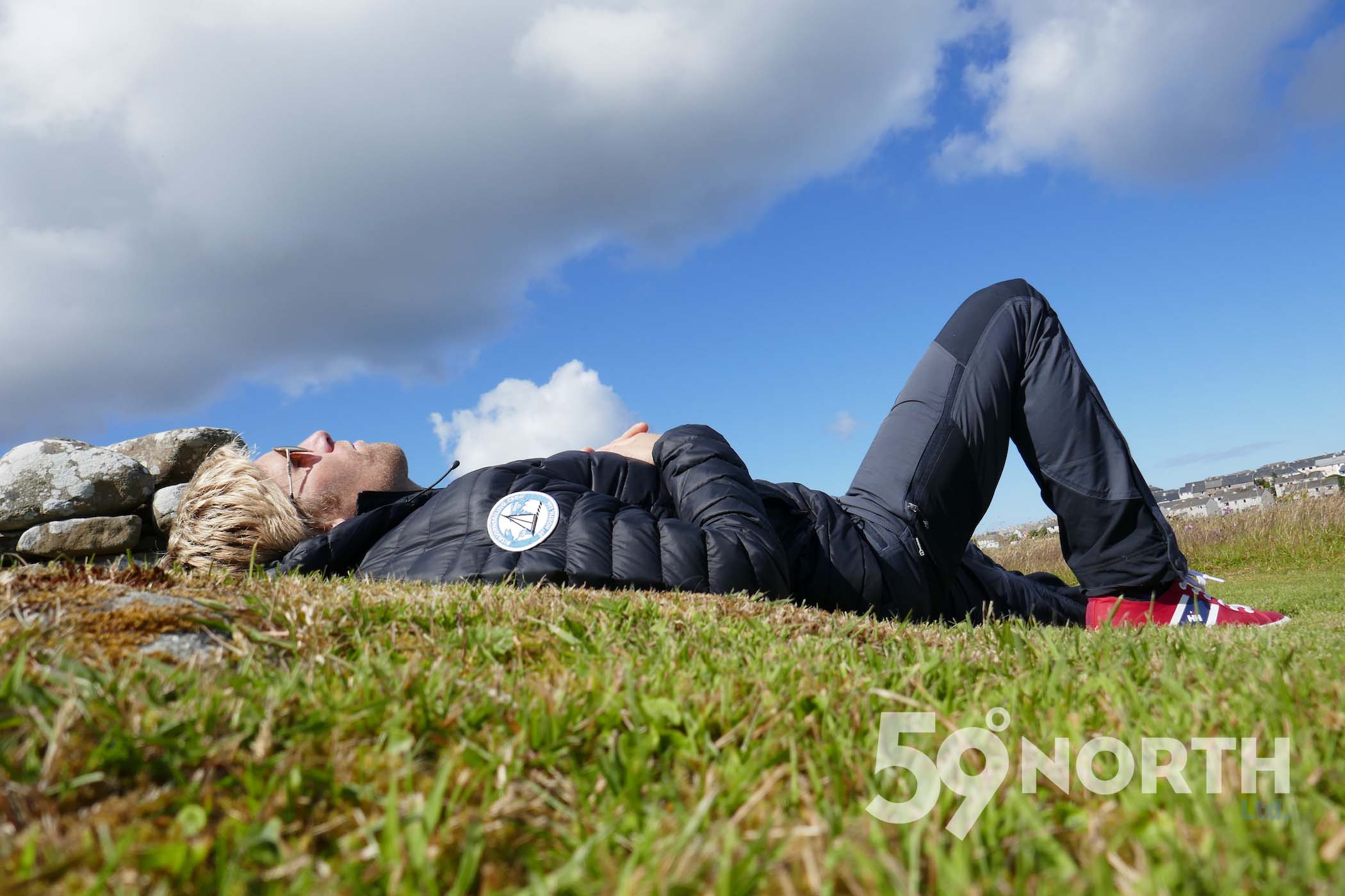 Nap time at the Broch of Clickimin ruins, Lerwick, Shetland!!  Leg 8, 2017: Sweden to Scotland 59-north.com
