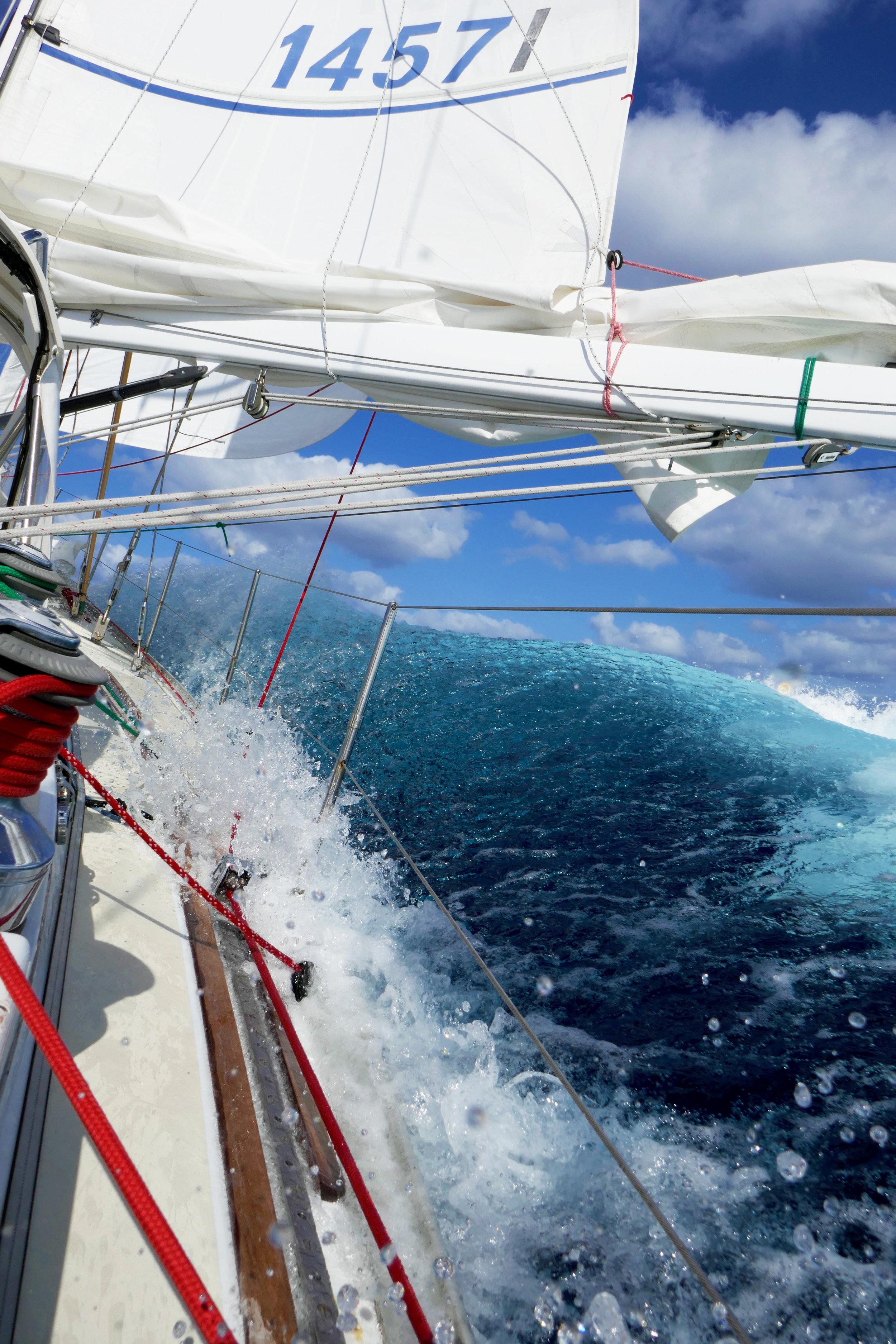 High seas en route across the Atlantic in 2017!
