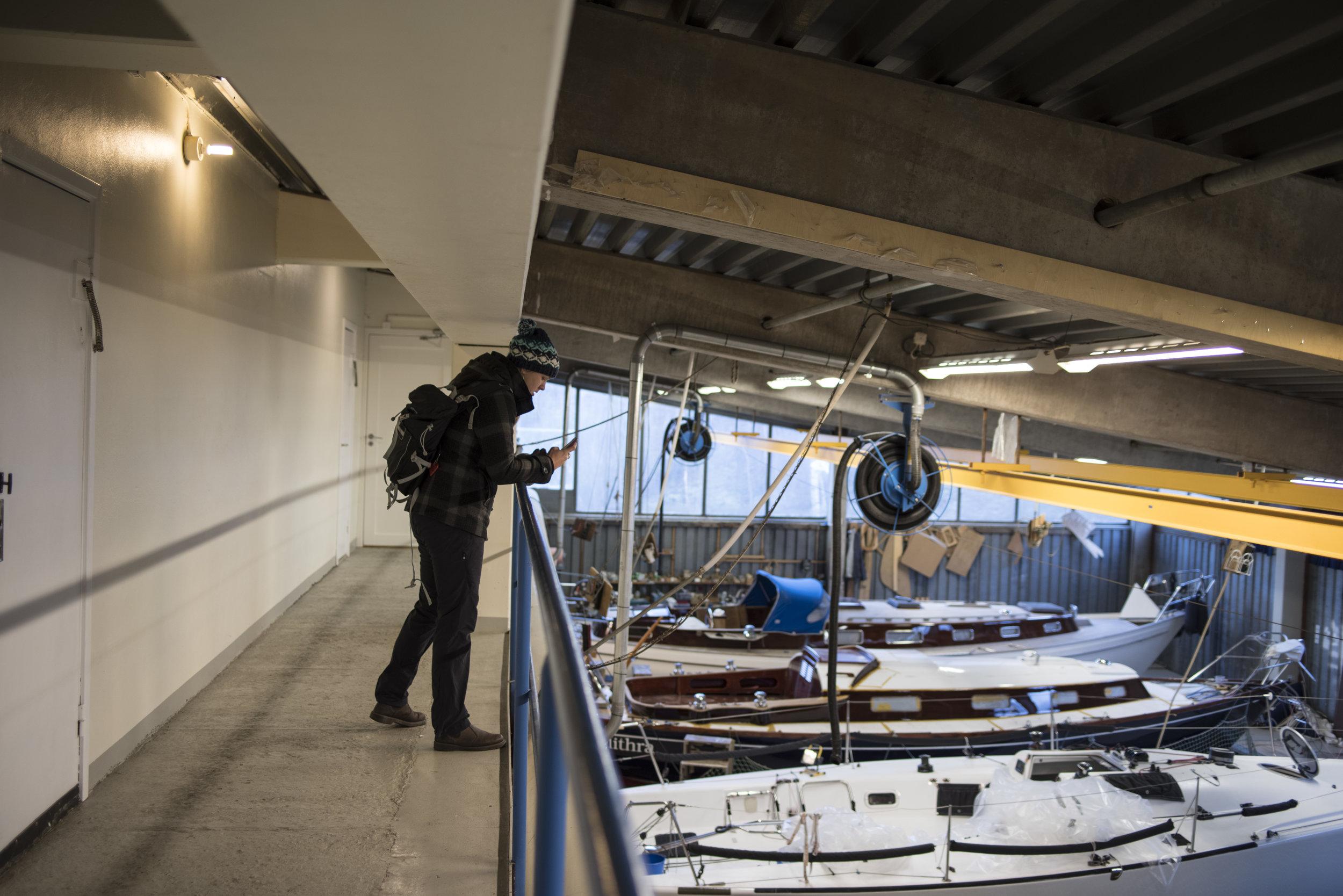 Inside the main workshop at Vindö.