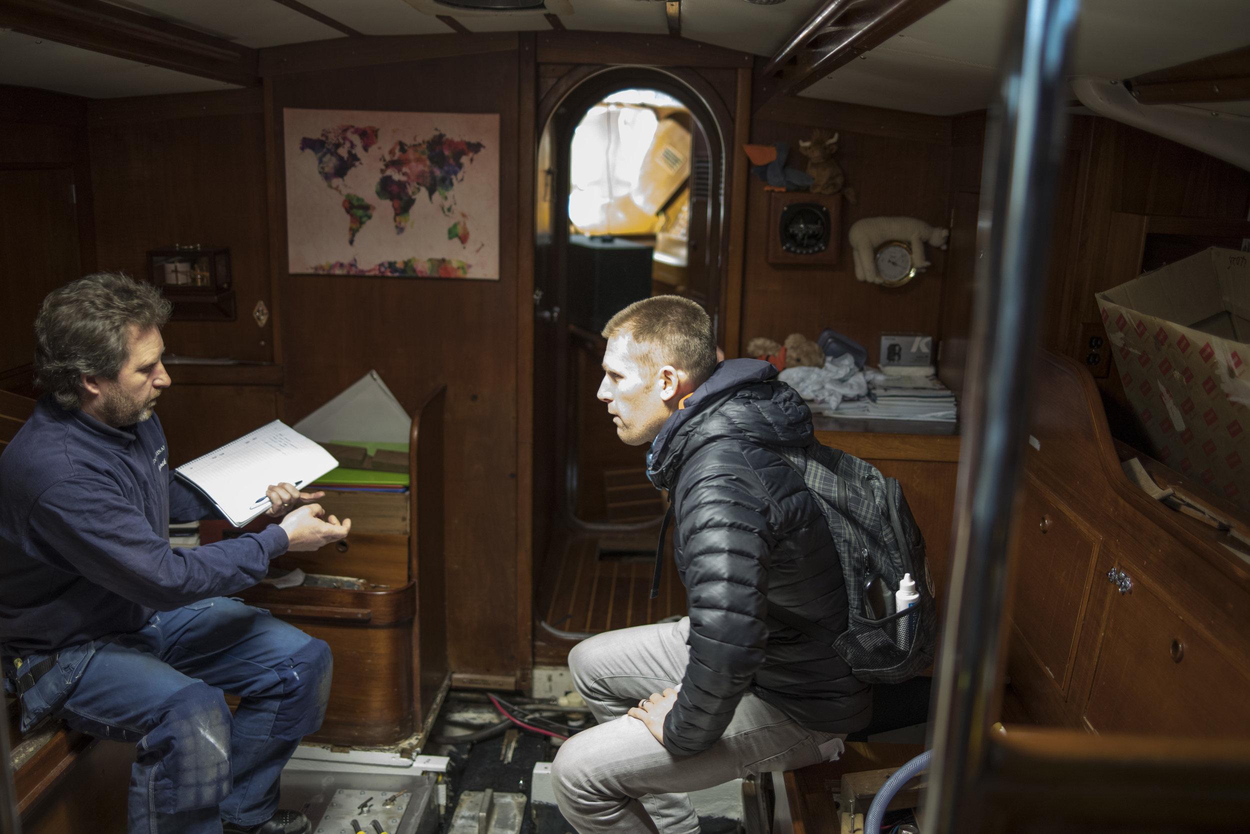 Andy & Henrik discuss the tank installation & plumbing refit.