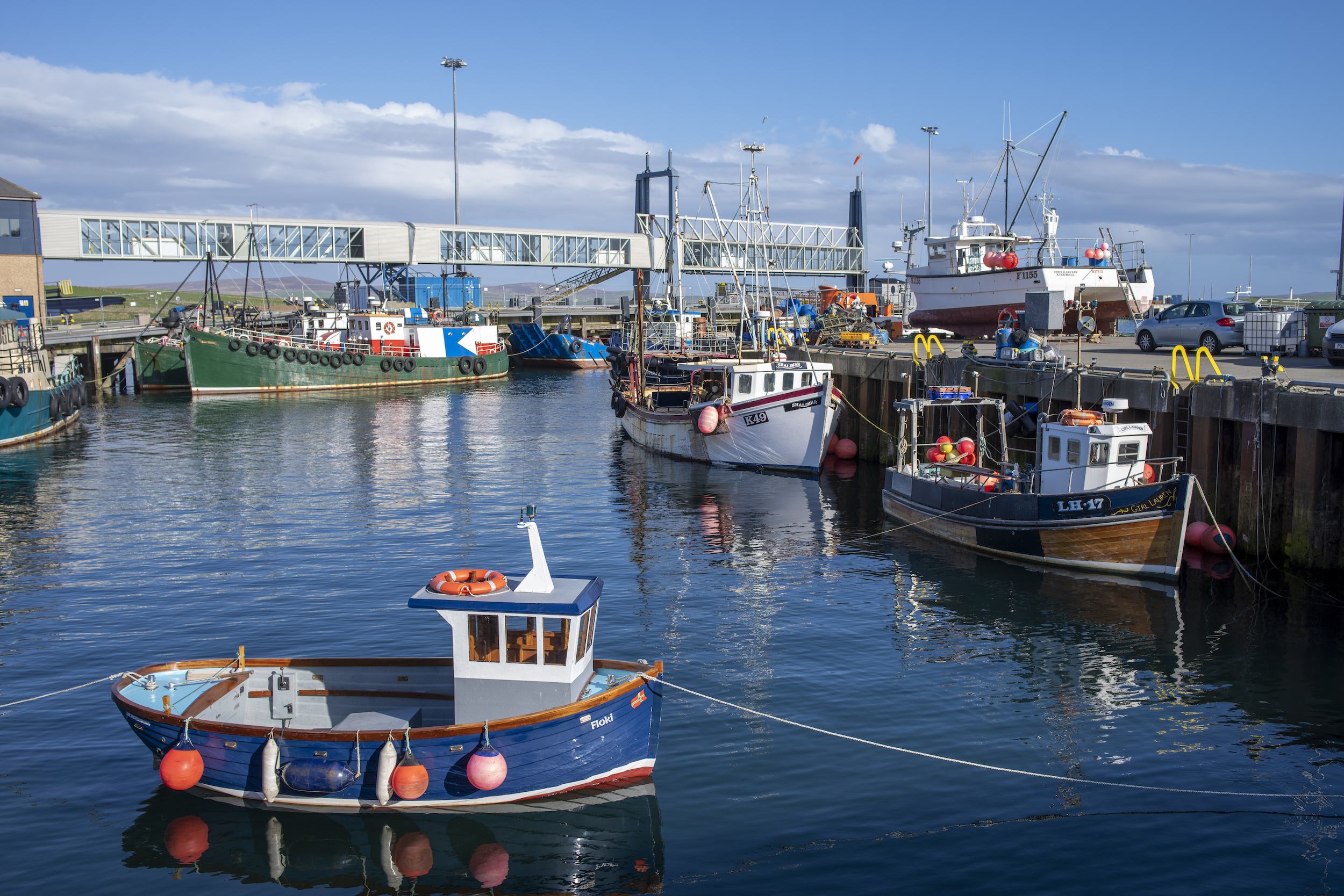 The 'fushing' harbor in Stromness, the other town on Mainland.