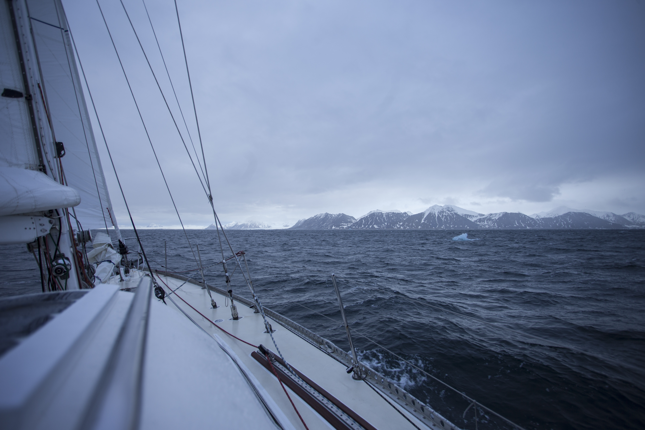 Spitsbergen in the background...glacial ICE in the foreground! We made it to the High Arctic!