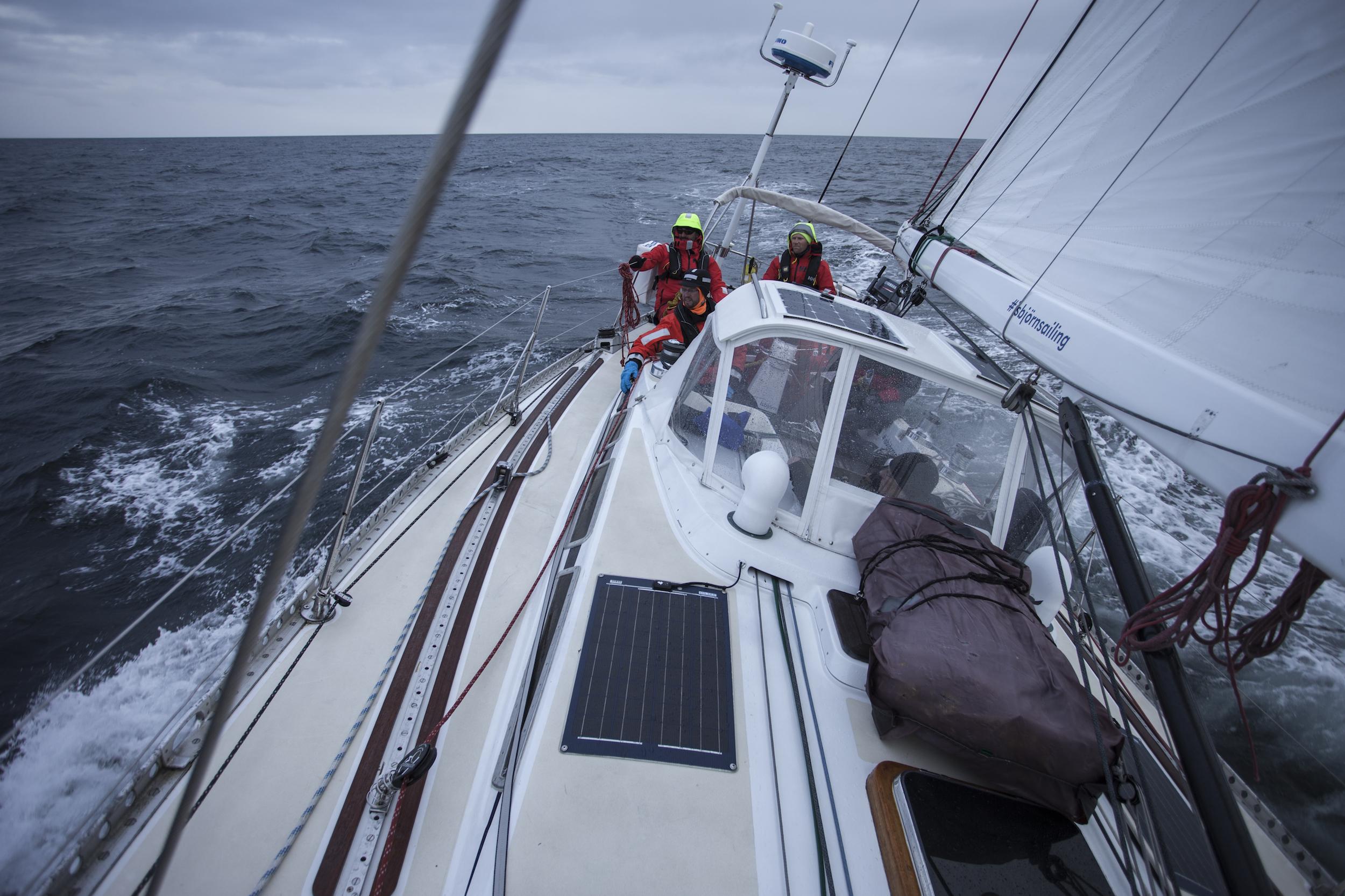 It got WINDY as we crossed Hornsund to make our landfall in Spitsbergen.