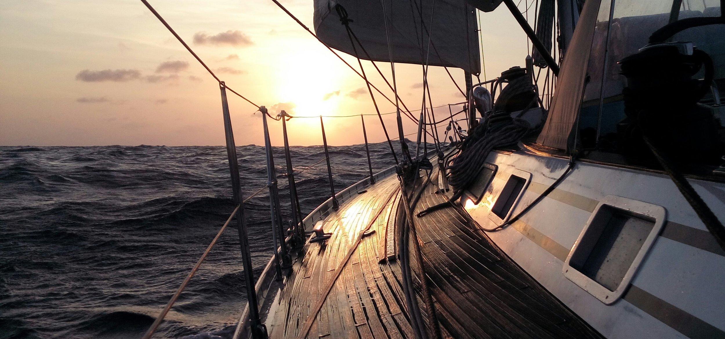 THINDRA en route across the Atlantic.