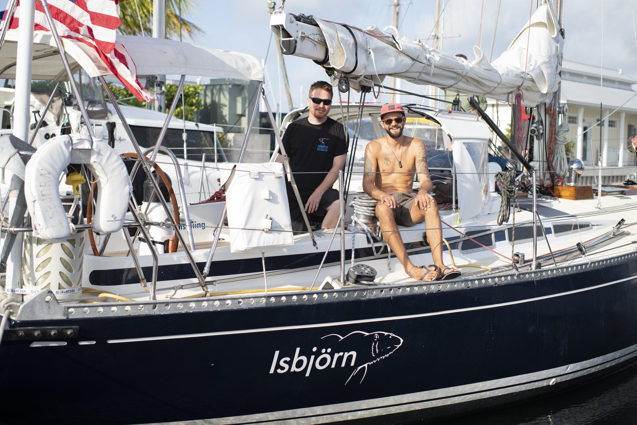 Matt Rutherford    &    Ben Doerr    skippered ISBJORN for us en route to Bermuda.