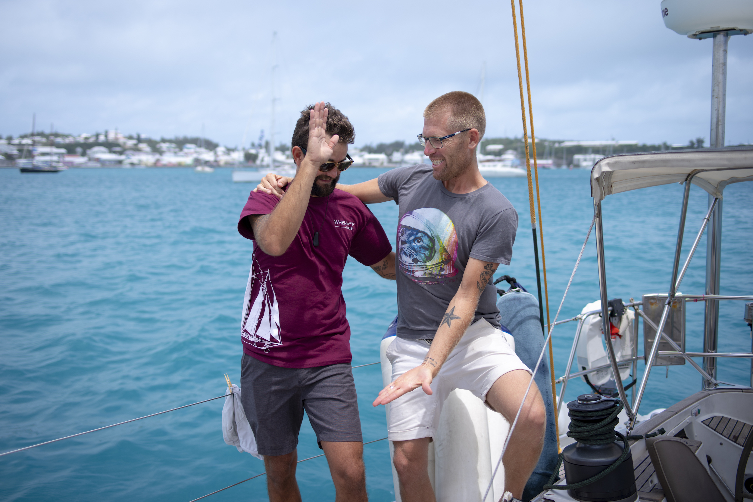 Too much fun with    Ben from Sail Bainbridge    in Bermuda! He was ISBJORN's mate on the passage with Matt Rutherford as skipper.