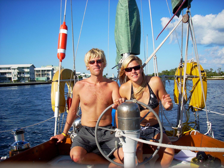 Andy & Mia circa 2009, taking ARCTURUS down the ICW to Miami.