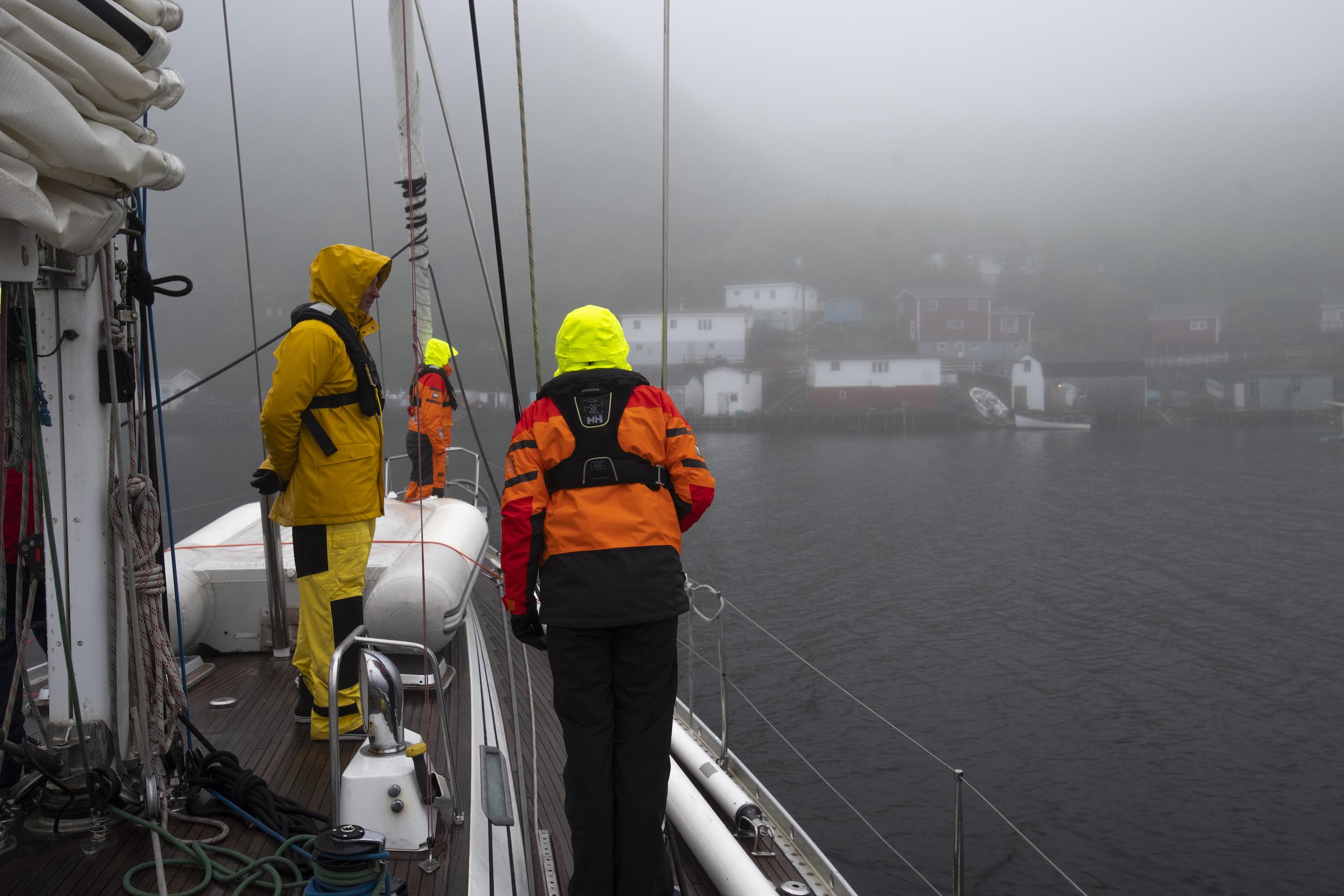 Foggy arrival into Francois.