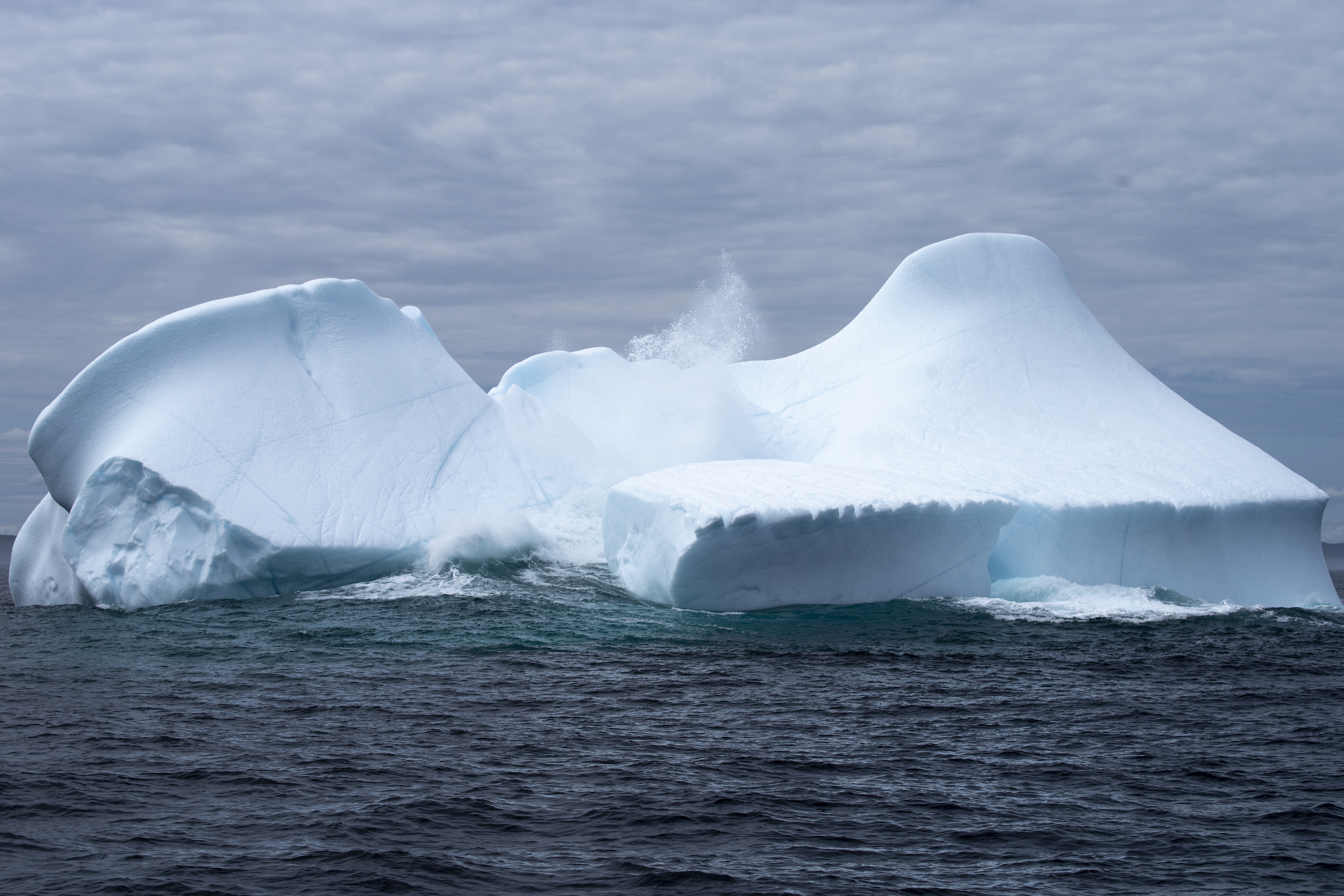 The way the ocean swell interacted with this berg was mesmerizing!