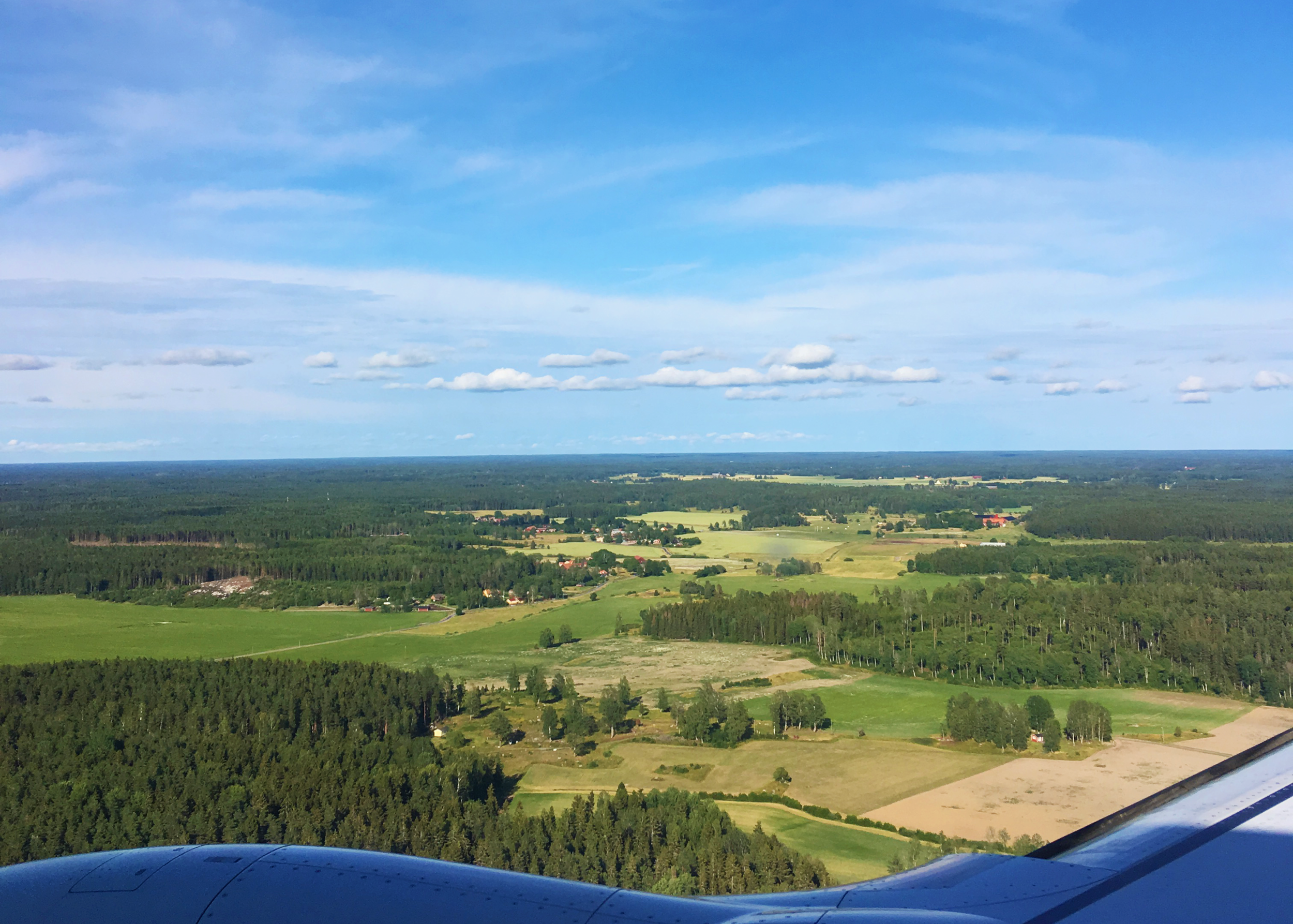 A very nice day to fly back home to Sweden…
