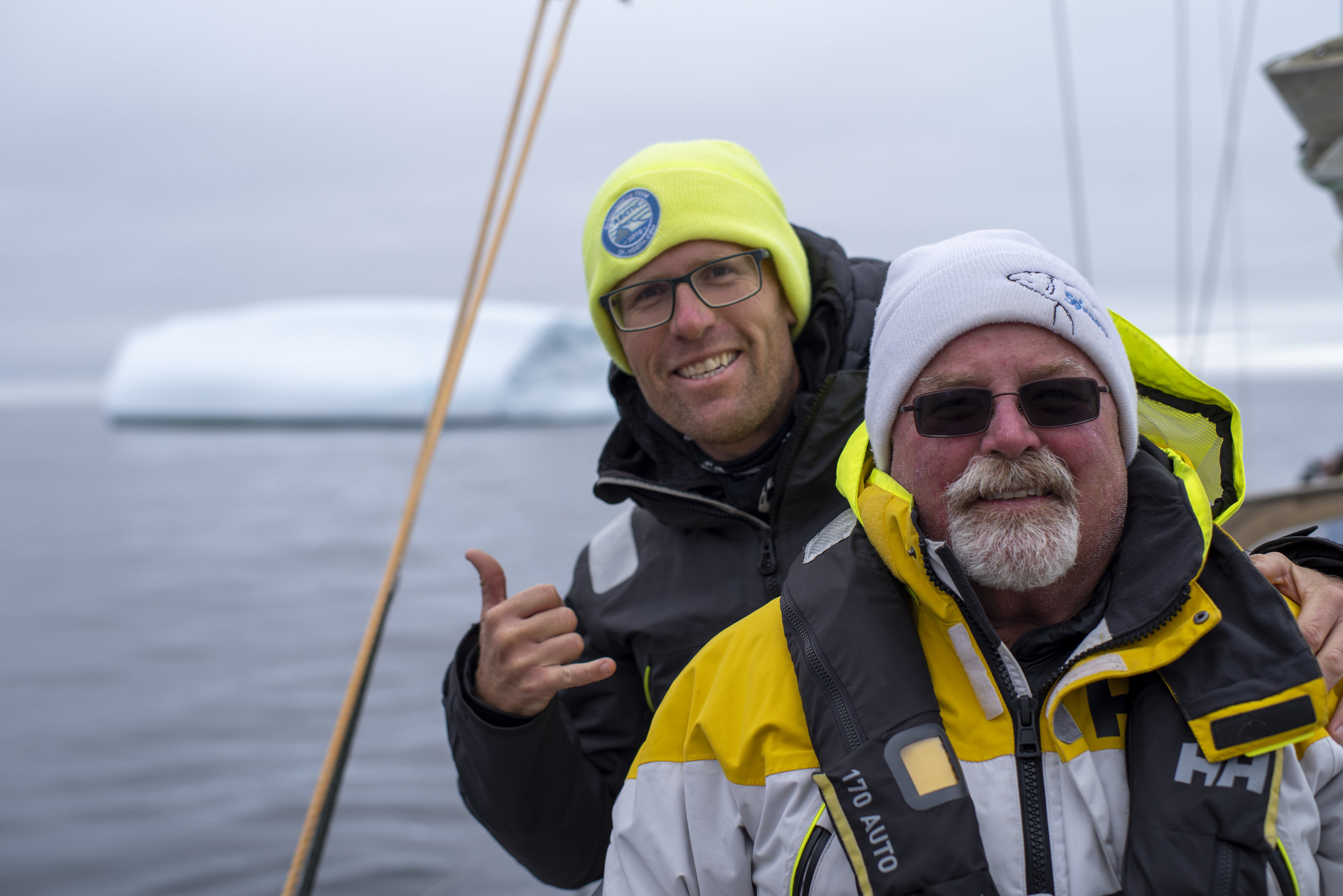 Dad got his iceberg on Day 1!