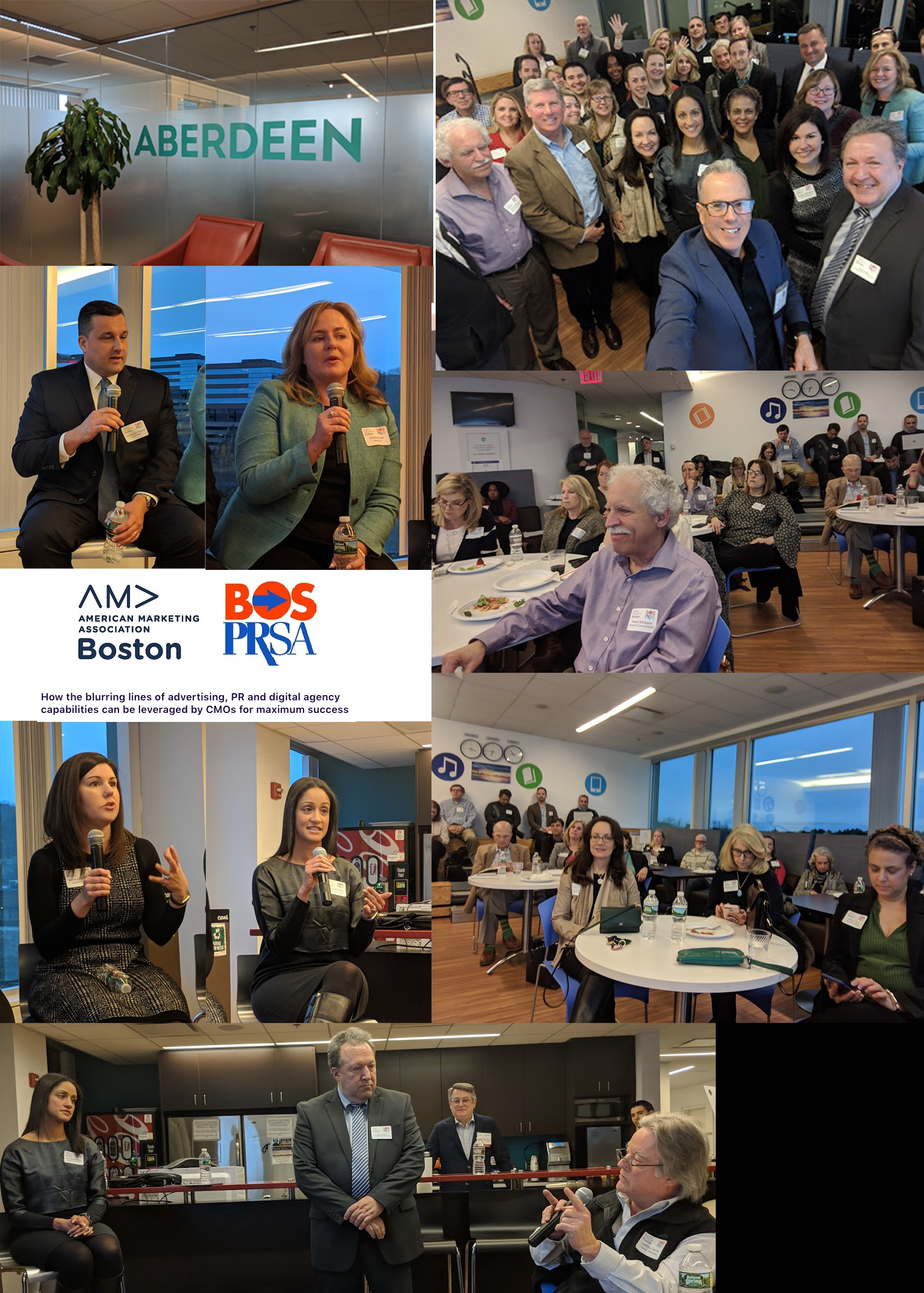 - ABOVE: JIM PANAGAS MODERATING A PANEL DISCUSSION FOR AMA BOSTON AND PRSA BOSTON. THE EVENT TOOK PLACE IN MARCH 2019 AND FOCUSED ON THE CHANGING RELATIONSHIP BETWEEN CMO'S AND DIGITAL MARKETING AGENCIES. BELOW: JIM PANAGAS BEING INTERVIEWED ON THE CMS-CONNECTED WEB-BASED TV SHOW.