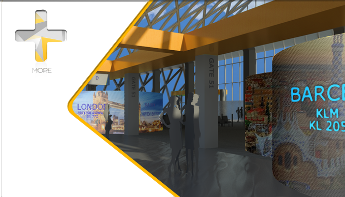 AN IMMERSIVE EXPERIENCE AIMING TO MAKE THE AIRPORT AND TRAVELLING JOURNEY MORE PLEASANT. DESTINATION CLOUDS USES GIANT, FLEXIBLE TOUCH SCREENS TO CREATE A CLOUD OF INTIMACY GATESIDE, WHILE PROVIDING AN IMMERSIVE EXPERIENCE ABOUT THE TRAVELLER'S DESTINATION